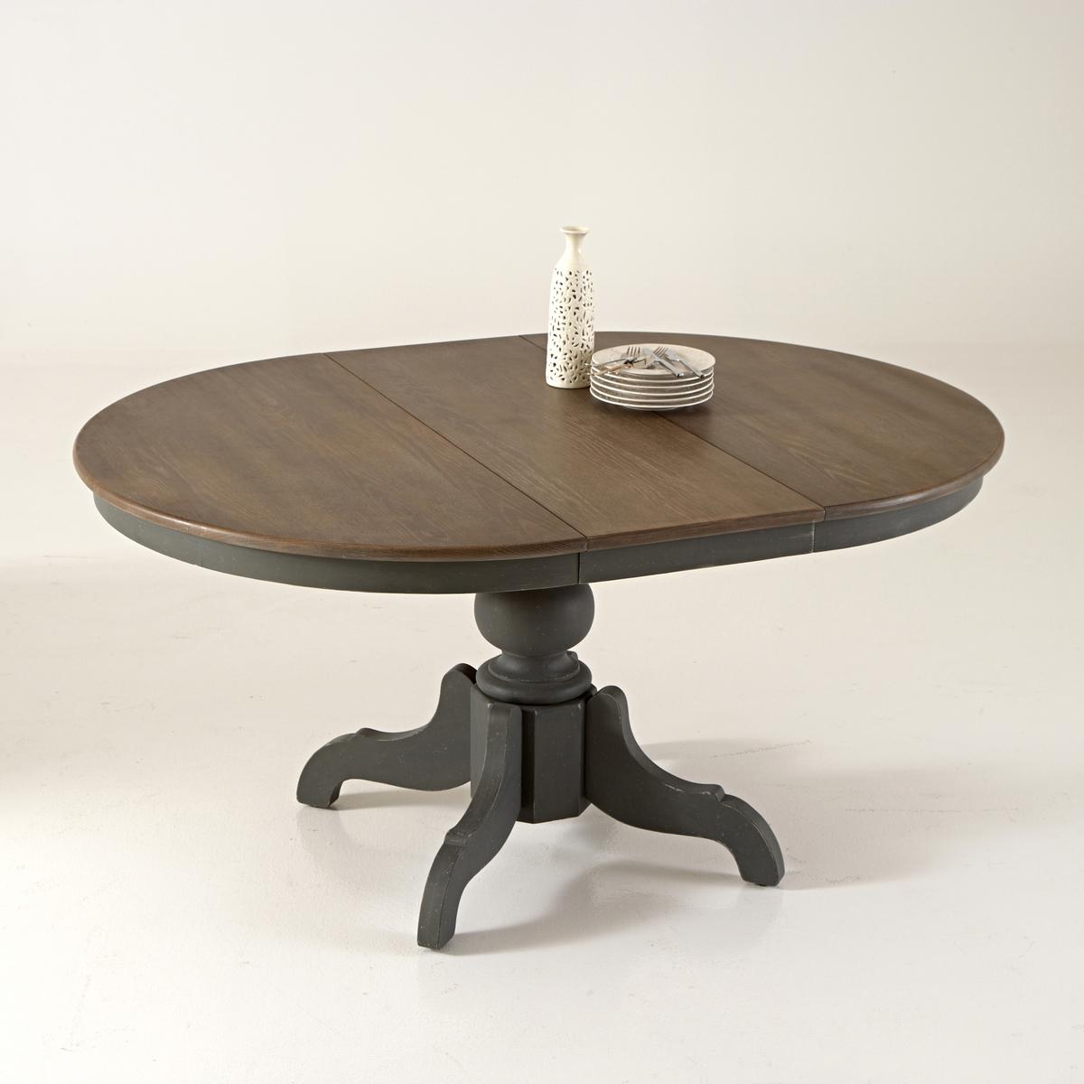 Обеденный LaRedoute Стол с удлинениями на 4-8 персон Eulali 8 персоны серый круглый laredoute стол на 4 8 персон authentic style 8 персоны белый
