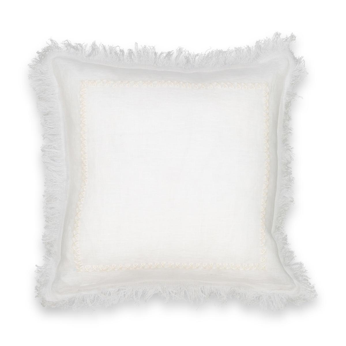 Чехол на подушку-валик с ручной вышивкой, Domitien