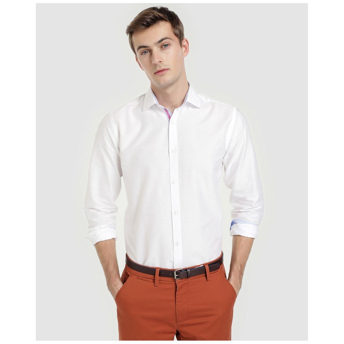 Chemise habillée slim à rayures