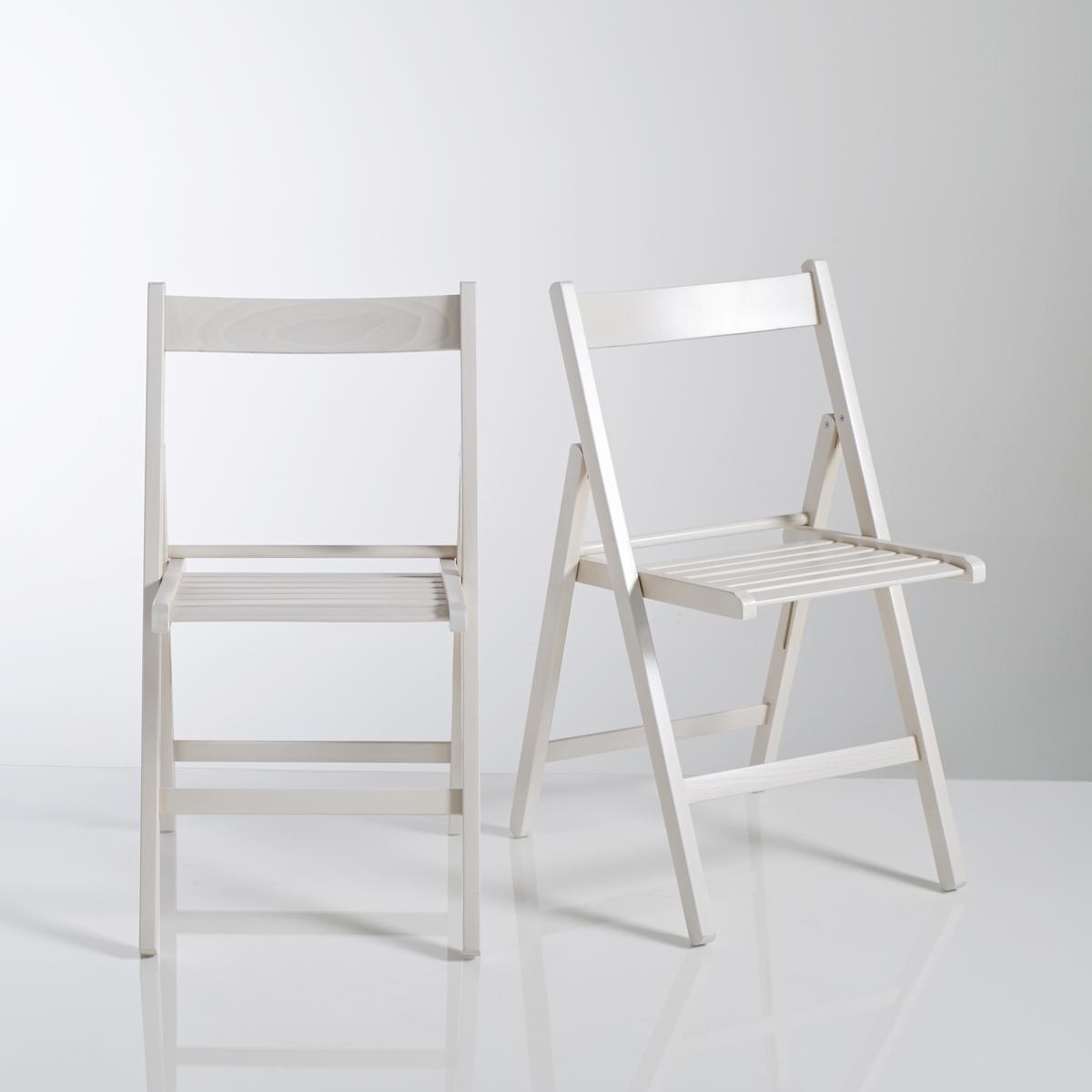 2 складных стула из массива бука YannХарактеристика складных стульев Yann:Сертифицированный массив бука FSC (FSC n°C104535), анилиновое лаковое покрытие (на водной основе) подчеркивает фактуру древесины.Крепления из оцинкованной стали.Вся коллекция Yann на сайте laredoute.ru.Размеры складных стульев Yann:Общие размеры для 1 стулаДлина: 43 см.Высота: 80 см.Ширина: 47 см.Сиденье: Д38 x В45 x Ш30 см.Вес: 3 кг.Размеры и вес упаковки:1 упаковка.Д89 x В15 x Ш45 см.7 кг.Доставка:2 складных стула Yann продаются в собранном виде.Внимание! Убедитесь в том, что посылку можно доставить на дом, учитывая ее габариты(проходит в двери, по лестницам, в лифты).<br><br>Цвет: белый,красный,серо-бежевый,серый