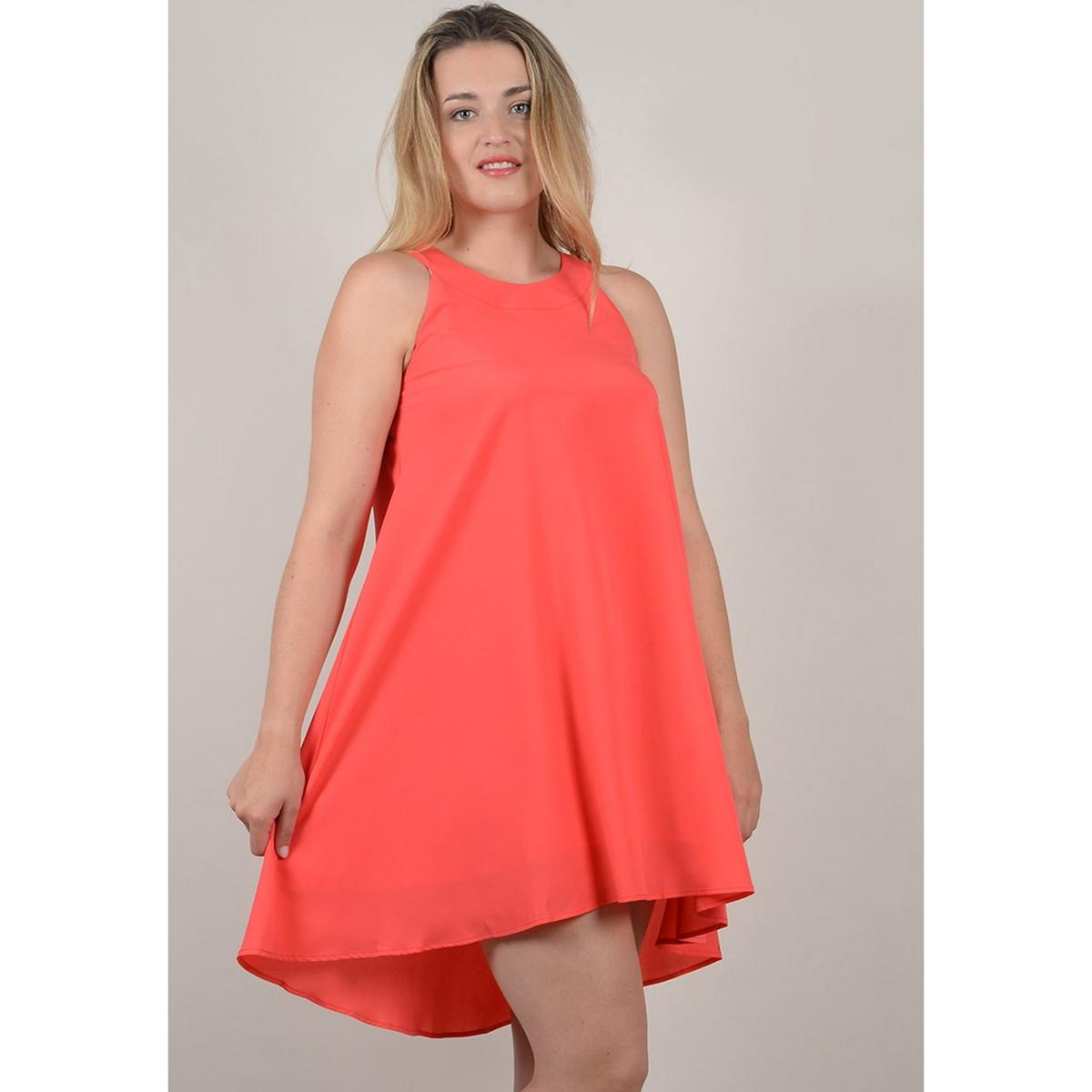 Платье La Redoute Расклешенное короткое с длинными рукавами 46 (FR) - 52 (RUS) оранжевый футболка la redoute с длинными рукавами 3 года 94 см оранжевый