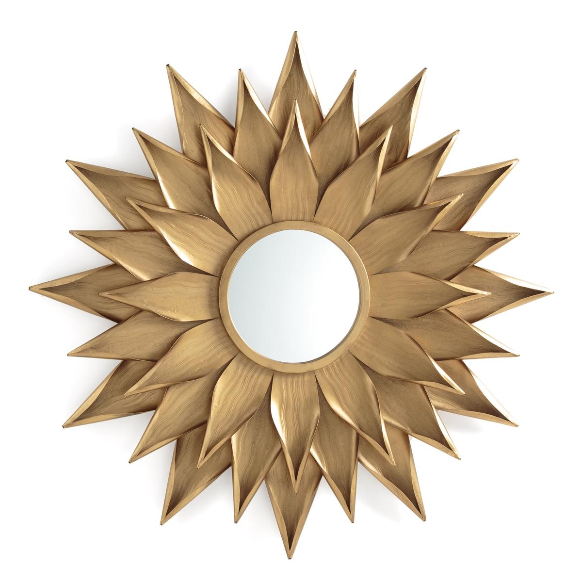 Зеркало LaRedoute - подсолнечник 825 см Tylar единый размер золотистый зеркало laredoute из металла и плетеного материала waska единый размер бежевый