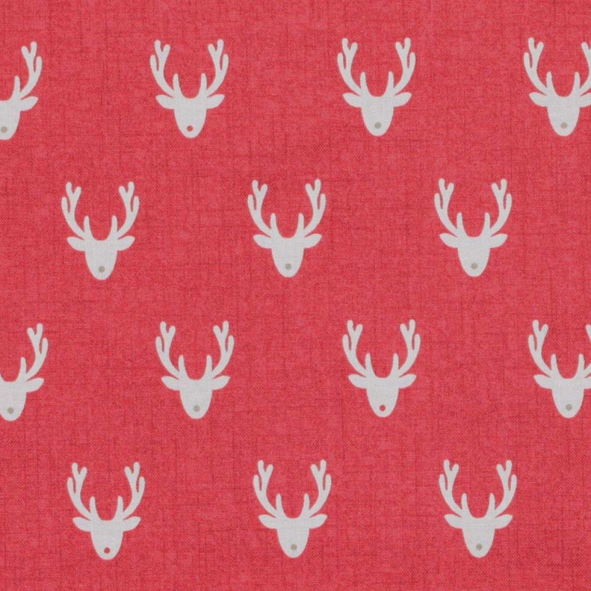Tissu coton Noël rennes - A la coupe