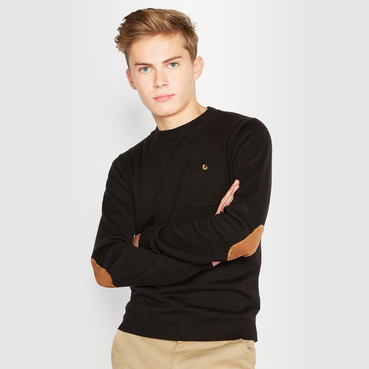 Пуловер с вставками на локтях 10-16 лет от La Redoute Collections