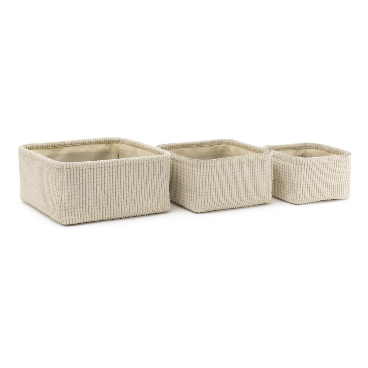 Комплект из 3 корзин, Veloudo LaRedoute La Redoute единый размер бежевый