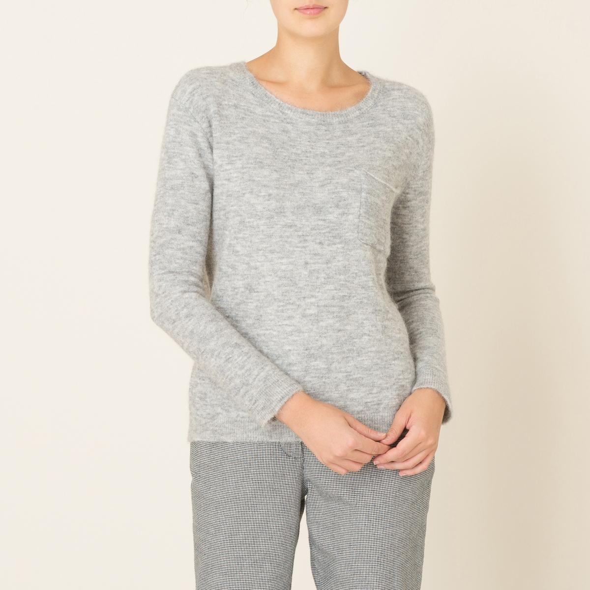 Пуловер TERAСостав и описание Материал : 42% шерсти, 42% полиамида, 14% альпаки, 2% эластана.Марка : HARRIS WILSON<br><br>Цвет: серый