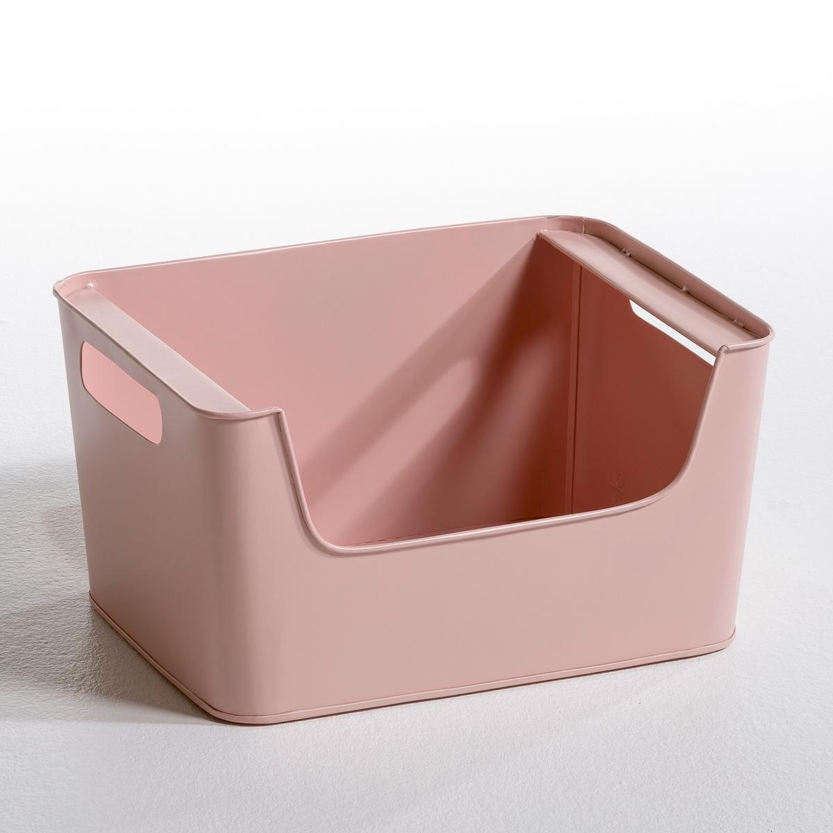 Ящик металлический Д37 x В20 см, ArregloХарактеристики ящика маленького размера :- Ставятся один на другой.- Прорези по бокам для удобства переноски.Размеры  : -Д.37 x В.20 см x Г. ок.29 см..<br><br>Цвет: белый,серый,телесный матовый