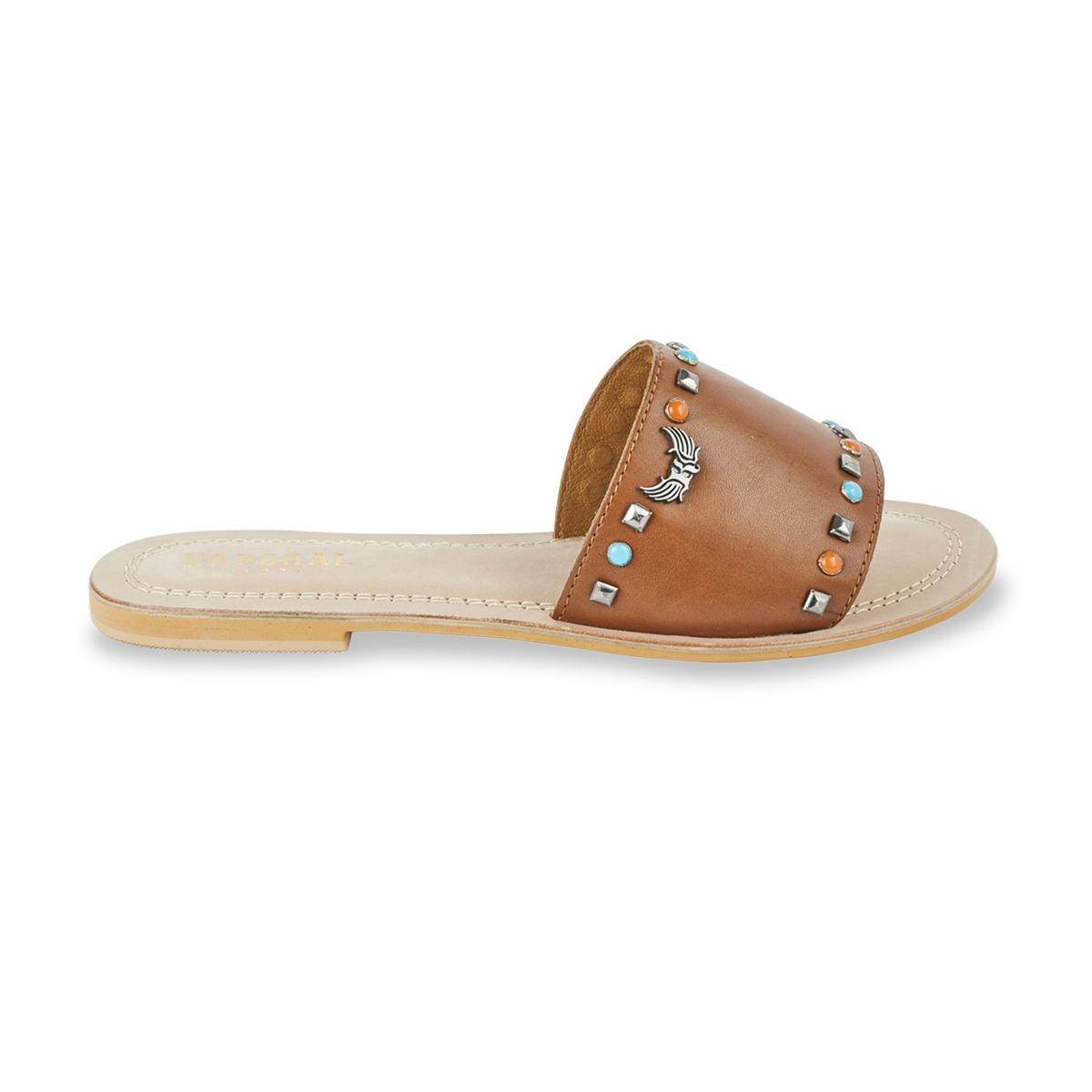 Туфли без задника кожаные Malini цены онлайн