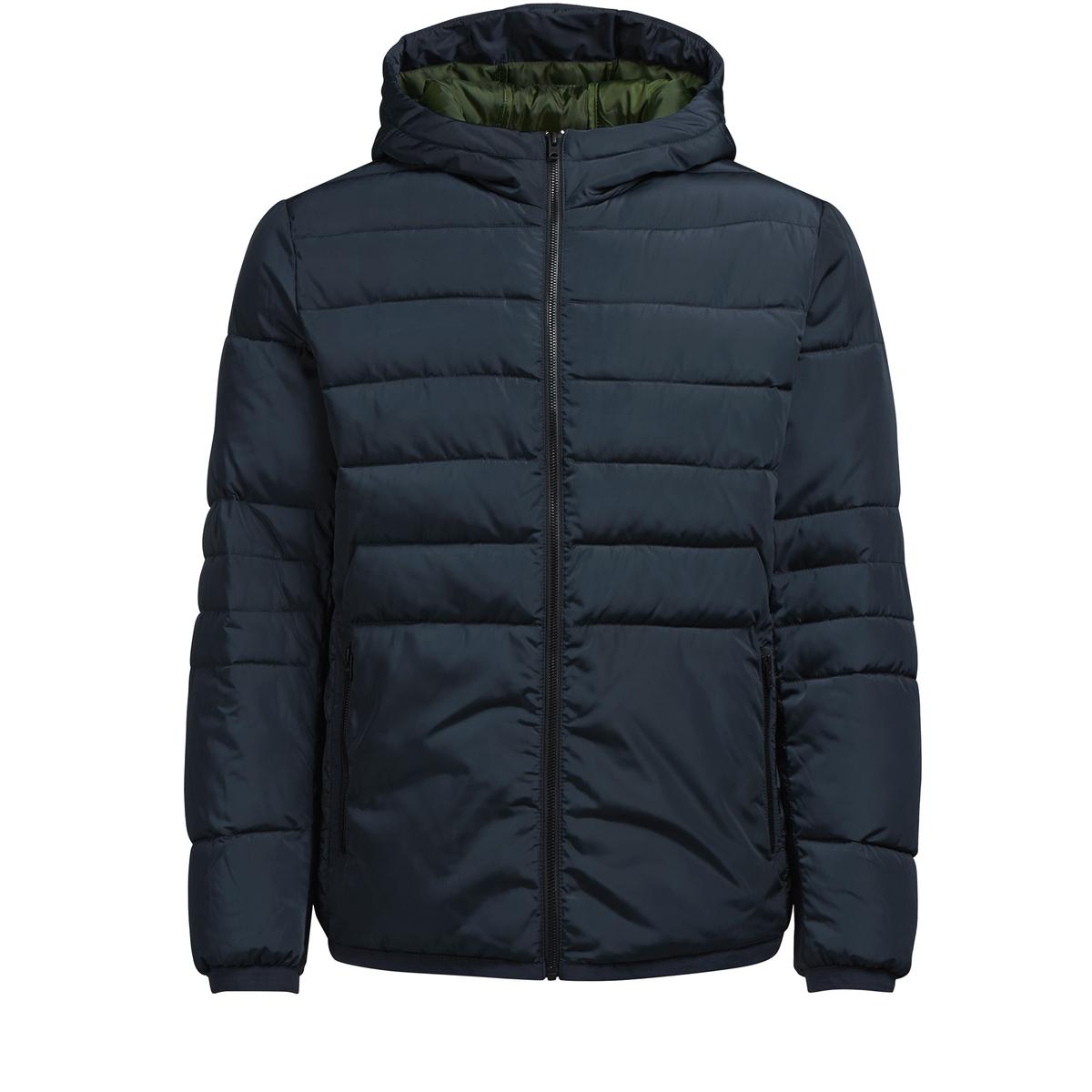 Куртка стеганаяДетали •  Длина : укороченная   •  Капюшон  •  Застежка на молниюСостав и уход •  100% полиэстер •  Следуйте советам по уходу, указанным на этикетке<br><br>Цвет: синий морской,черный<br>Размер: M