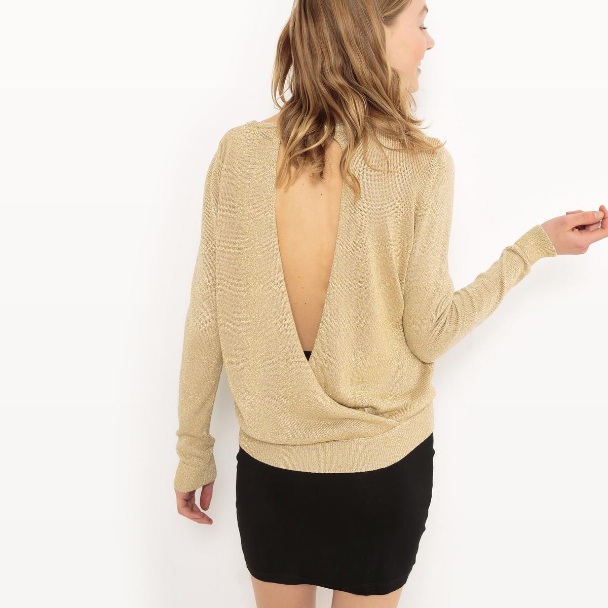 Пуловер с круглым вырезомДетали  • Пуловер прямого покроя •  Длинные рукава •  Круглый вырез •  Плотный трикотажСостав и уход •  80% вискозы, 20% металла •  Инструкцию по уходу смотреть на бирке<br><br>Цвет: розовый,экрю<br>Размер: M.M.S.XS