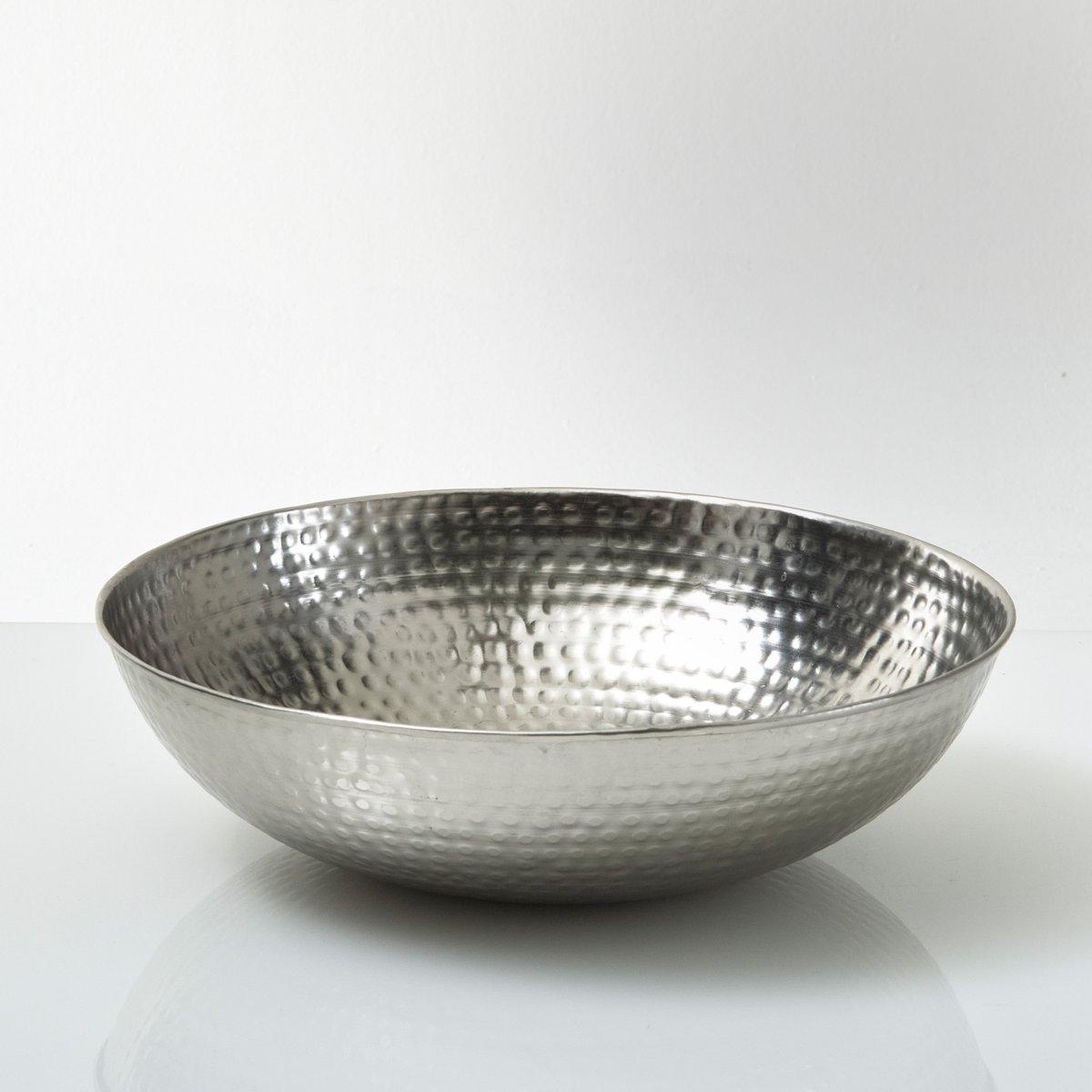 Ваза из кованого металла , BrunaМеталлическая ваза Bruna : актуальные тенденции- для журнального столика, буфета или столовой  .      Характеристики :Кованый никель .Полуматовое покрытие  .Размеры :Диаметр : 40 смВысота : 11 см&gt;<br><br>Цвет: серый серебристый<br>Размер: единый размер