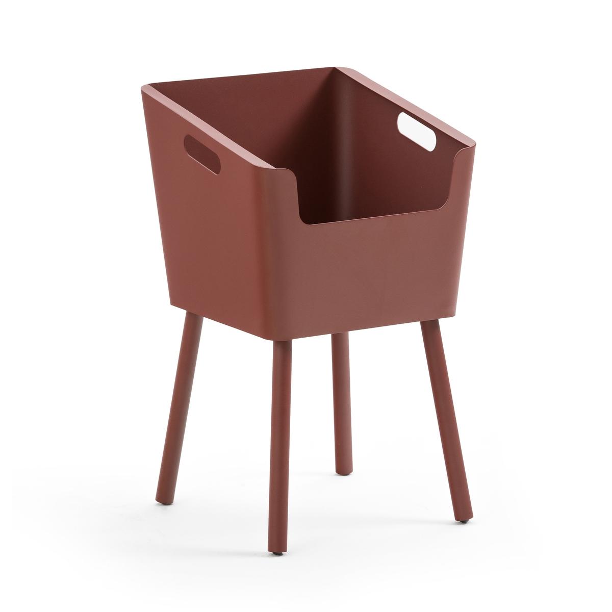 Столик La Redoute Прикроватный из металла Monbefi единый размер красный
