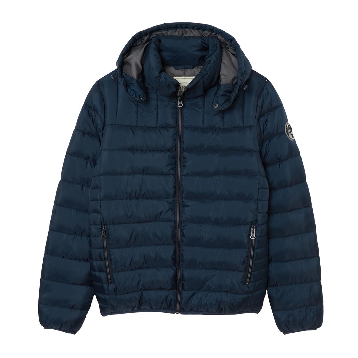 Куртка La Redoute Стеганая на молнии с капюшоном Meter XXL синий куртка la redoute стеганая на молнии с капюшоном meter xxl синий