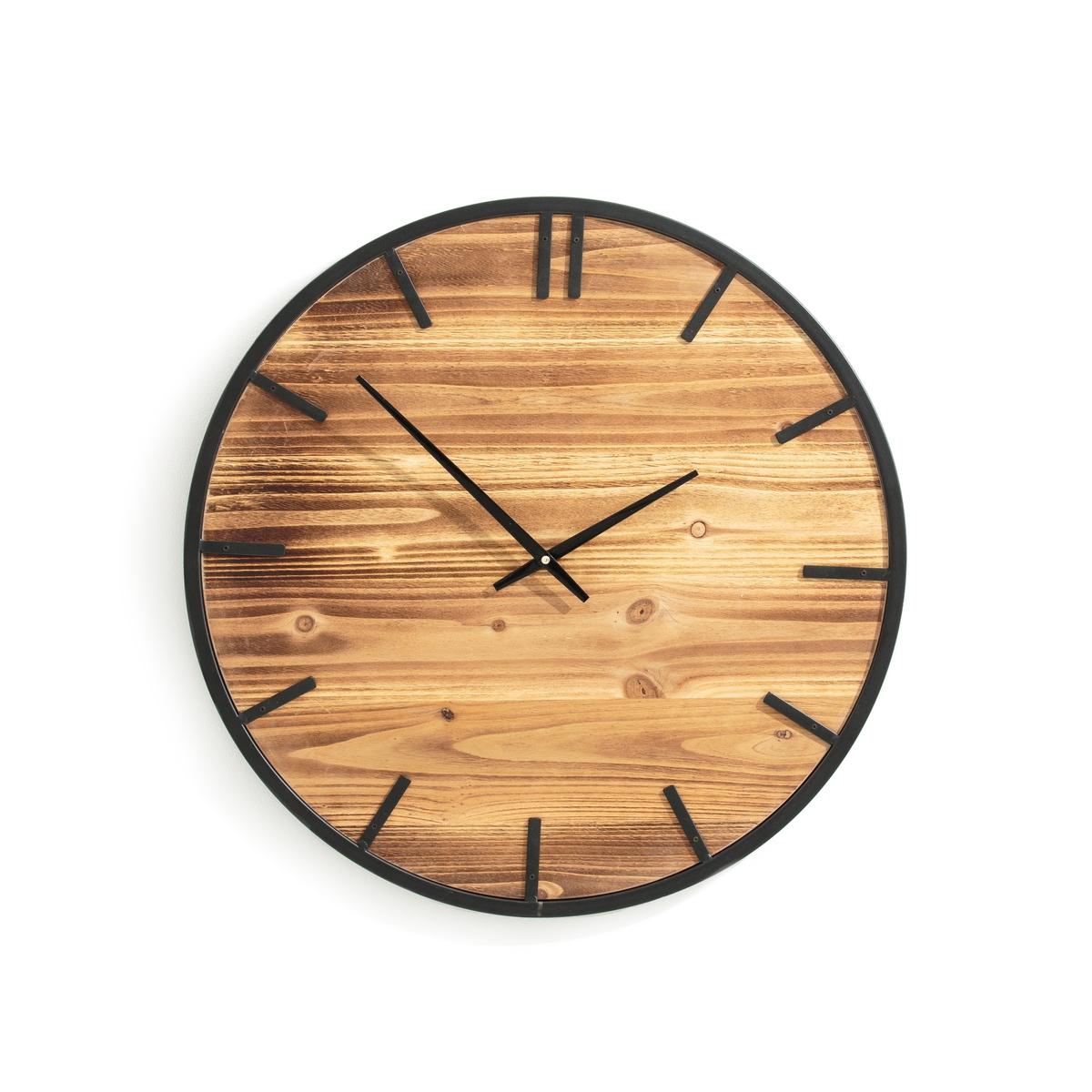 Часы XL из дерева и металла, CAMPANILAОписание:Часы из дерева и металла CAMPALINA. Внушающие размеры добавят характера в Ваш интерьер.Характеристики часов CAMPALINA :Металлический каркас с покрытием эпоксидной краской, деревянный фон с кварцевым механизмом. Батарейка типа AA на 1,5 В (в комплект не входит), 1 крючок для настенного крепления (шурупы и дюбели в комплект не входят)Размеры часов CAMPALINA :Диаметр : 60 см Глубина : 3,5 см<br><br>Цвет: дерево