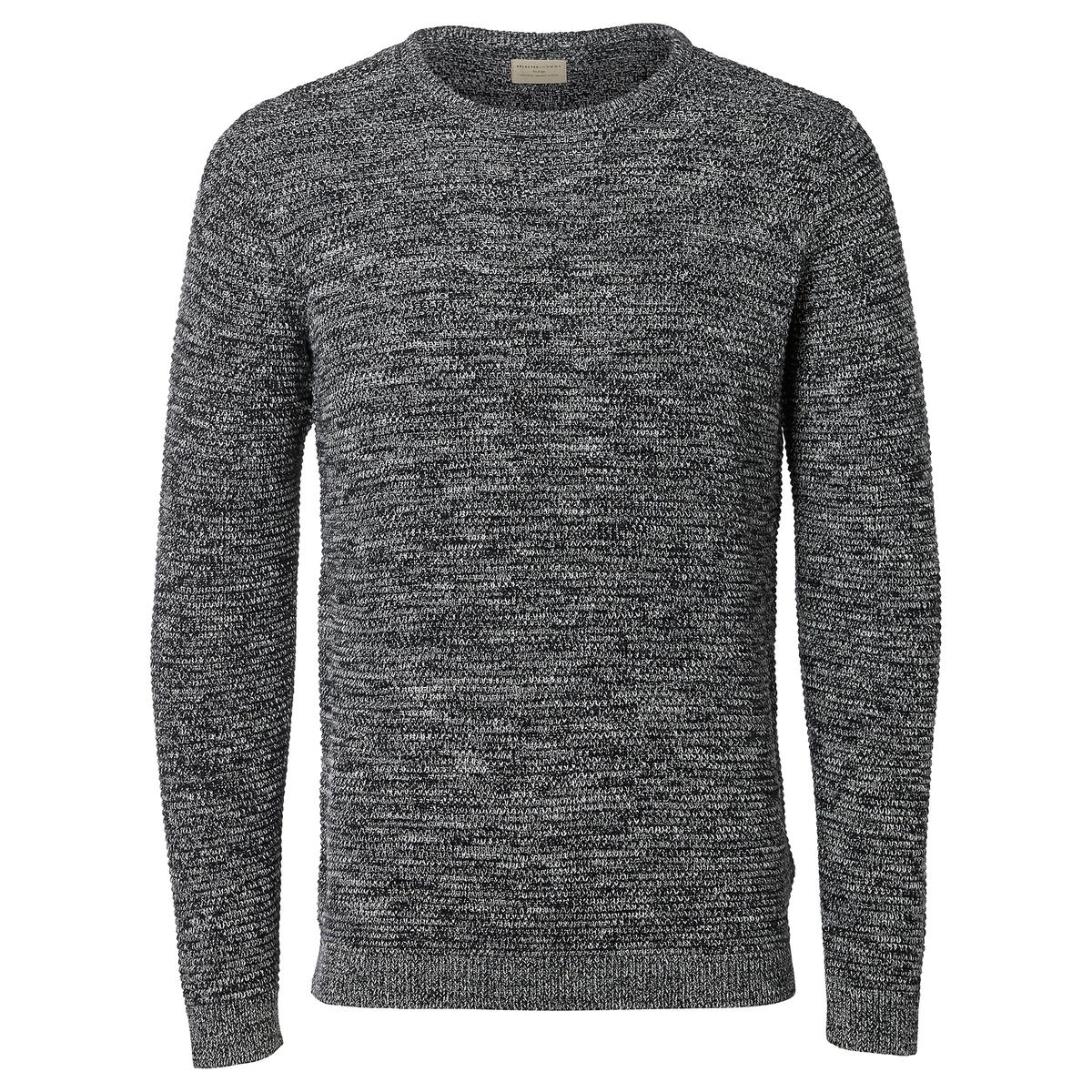 Пуловер крупной вязкиОписание:Детали  •  Длинные рукава  •  Круглый вырез •  Плотный трикотаж Состав и уход  •  100% хлопок  •  Следуйте советам по уходу, указанным на этикетке<br><br>Цвет: черный<br>Размер: XL