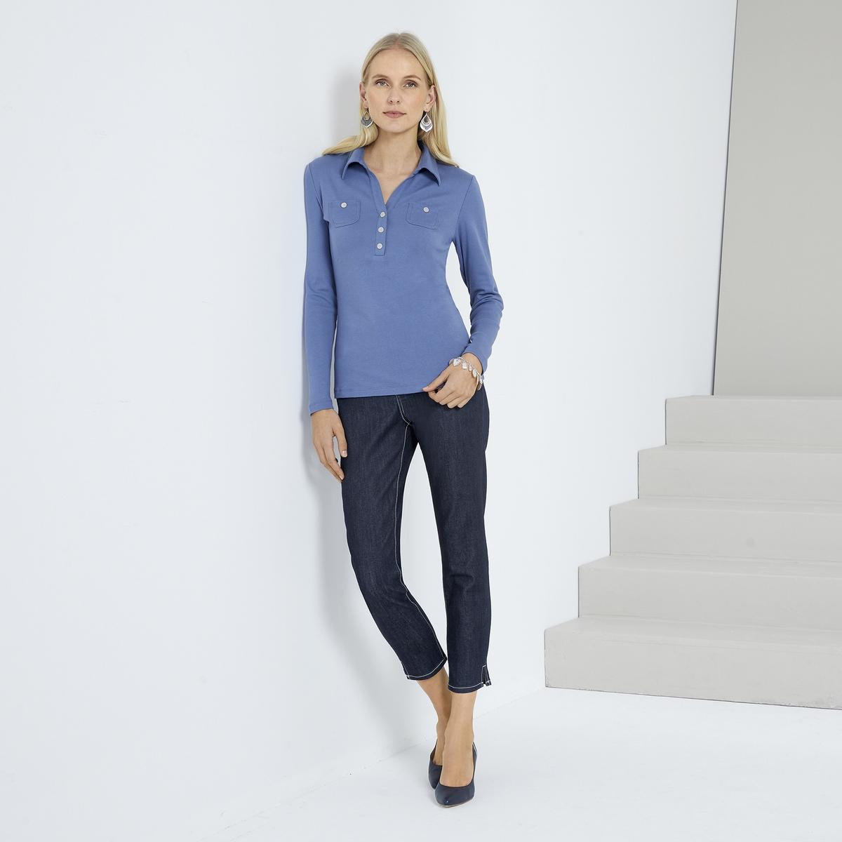 Imagen secundaria de producto de Camiseta con cuello polo, 100% algodón peinado - Anne weyburn