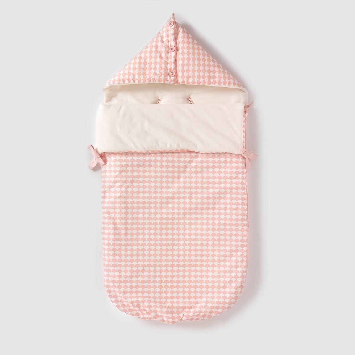 Конверт для новорожденных из хлопковой перкалиКонверт для новорожденных из хлопковой перкали, на ватине и подкладке из джерси  . Внутренние застежки позволяют прикрепить его к автокреслу. Застежка на молнию сбоку. Капюшон на пуговицах. Размер : 89 x 41 см . Состав и описаниеМатериал: 100% хлопок.Подкладка : 100% хлопкаМарка    R mini УходСтирка и глажка с изнаночной стороныМашинная стирка при 30°С на умеренном режиме с одеждой схожих цветовМашинная сушка на среднем режиме Гладить при умеренной температуре.<br><br>Цвет: розовый/ белый