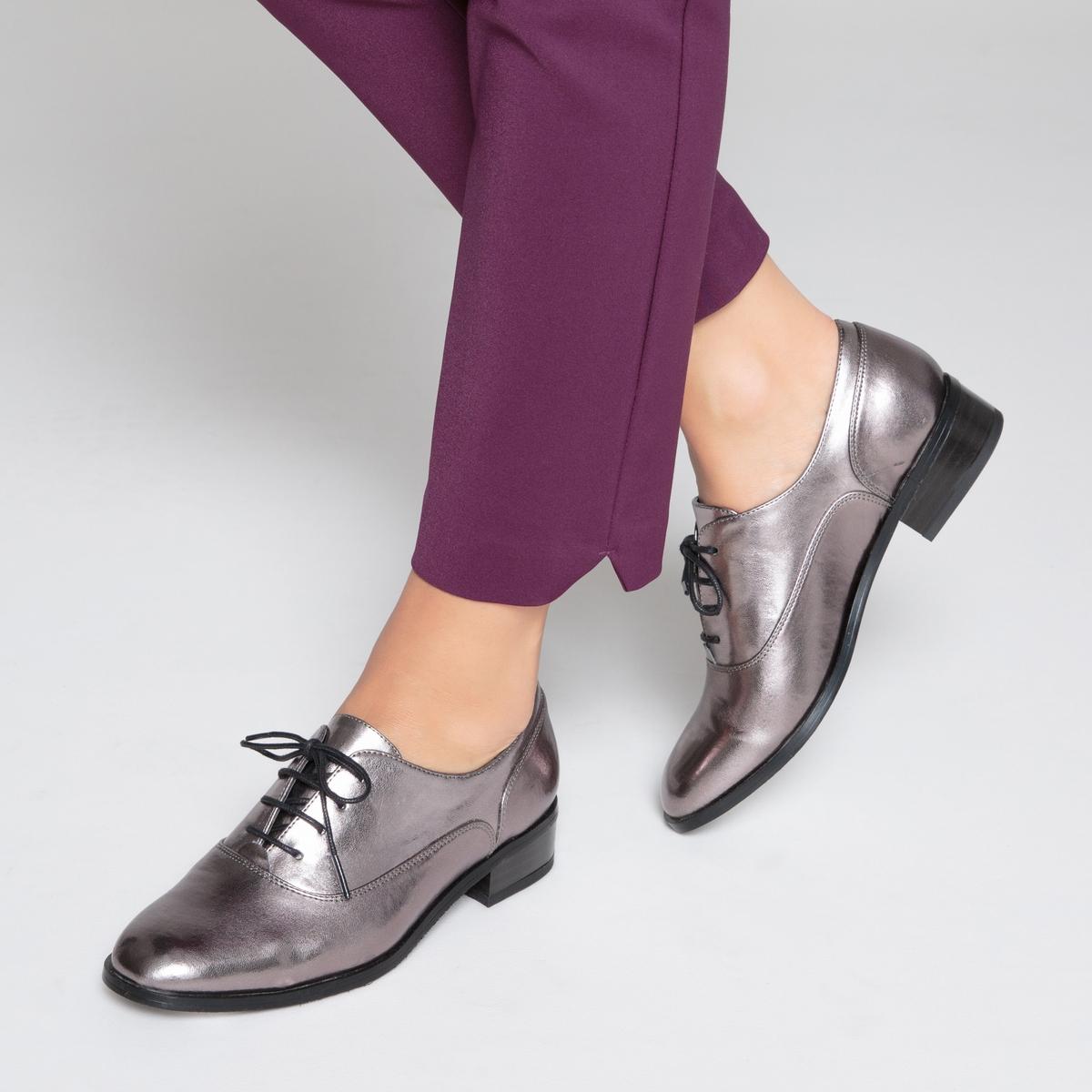 Ботинки-дерби блестящие