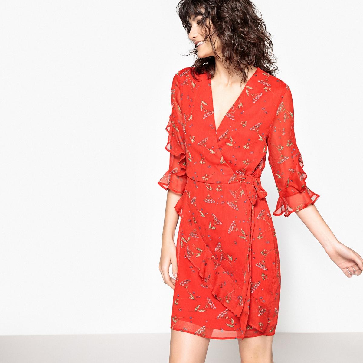 цены на Платье с рисунком и воланами в интернет-магазинах