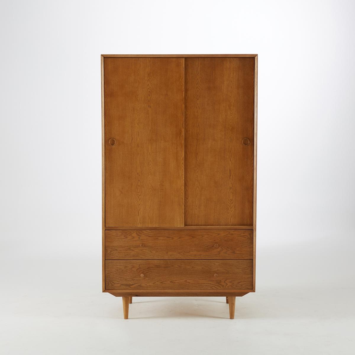Шкаф La Redoute В винтажном стиле Quilda единый размер каштановый столик журнальный в винтажном стиле из обыкновенного дуба quilda