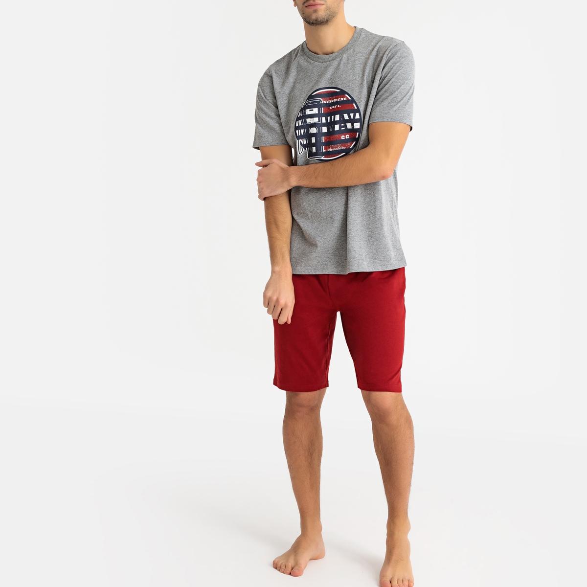 Pijama estampado, mangas curtas