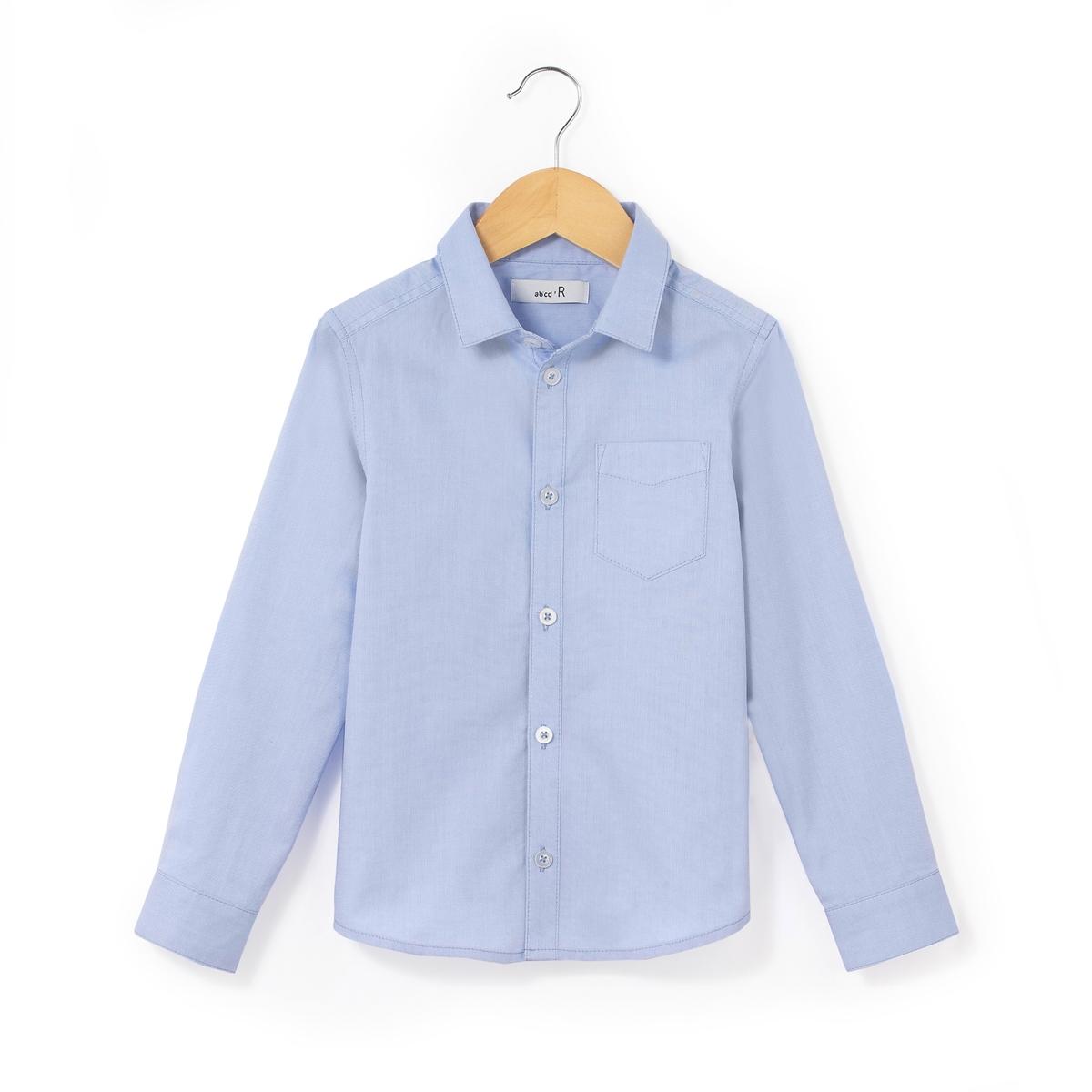 Рубашка-оксфорд с длинными рукавами, 3-12 лет