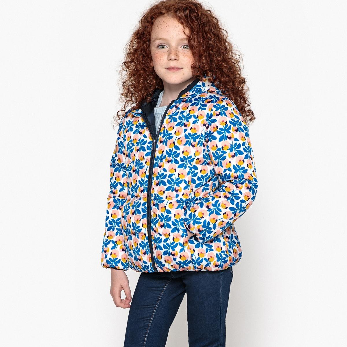 Куртка стеганая двусторонняя  капюшоном, 3-12 лет
