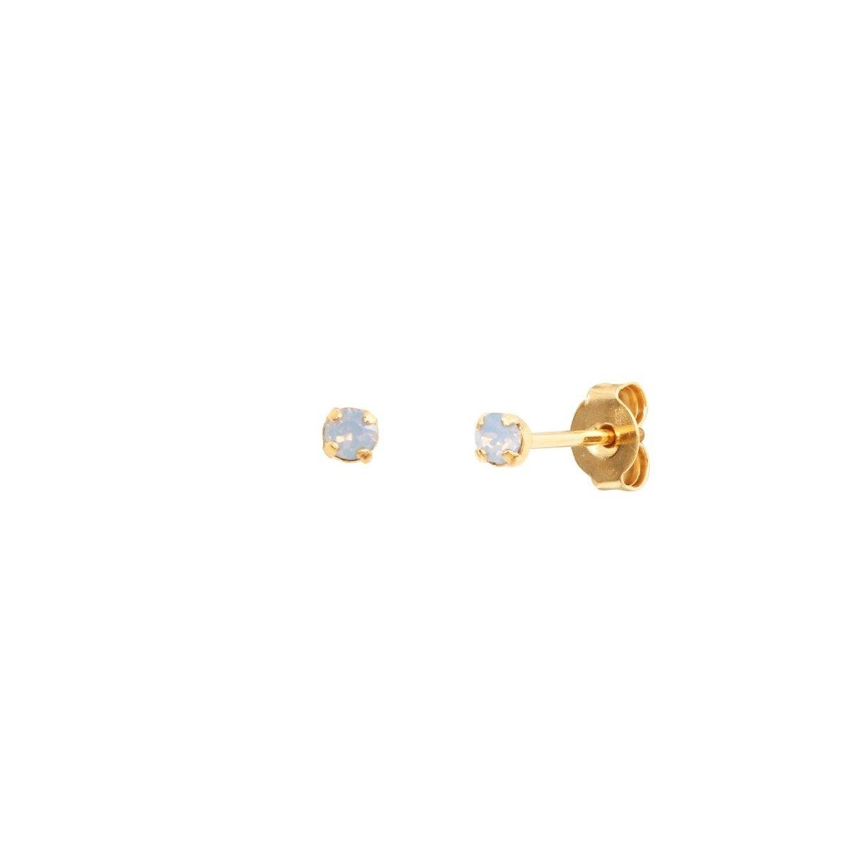 Boucles d'oreilles puces dorées Air Blue Opal Paris