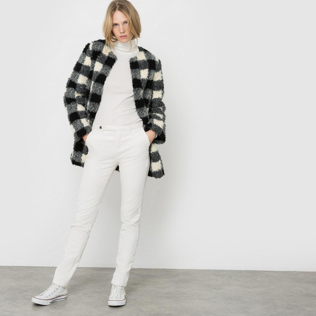 Пальто из искусственного меха. 12storeez шуба укороченная из искусственного меха бежевый