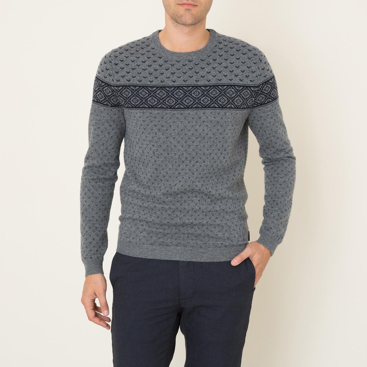 Пуловер SLOGANСостав и описание Материал : 90% шерсти, 10% кашемираМарка : HARRIS WILSON<br><br>Цвет: серый/ темно-синий
