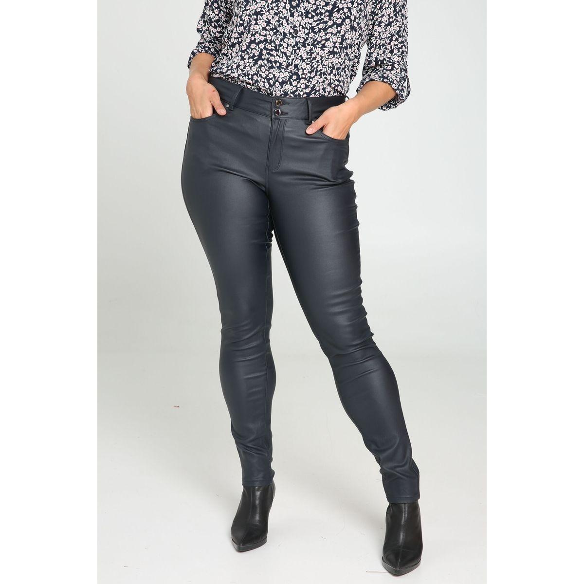 Pantalon Slim enduit extra long - Longueur 34