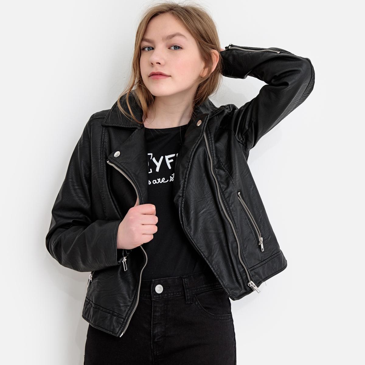 цена Куртка La Redoute В байкерском стиле 16 лет - 162 см черный онлайн в 2017 году