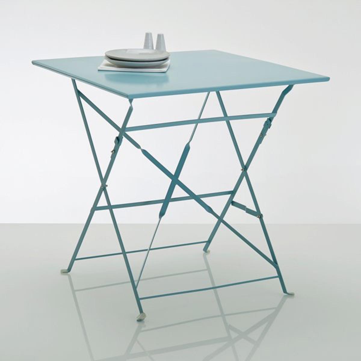 Стол квадратный складной из металла