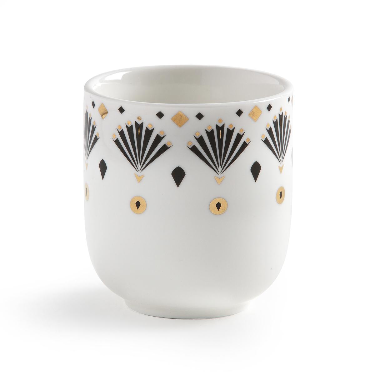 Комплект из фарфоровых чашек La Redoute Для эспрессо MELLAH единый размер белый