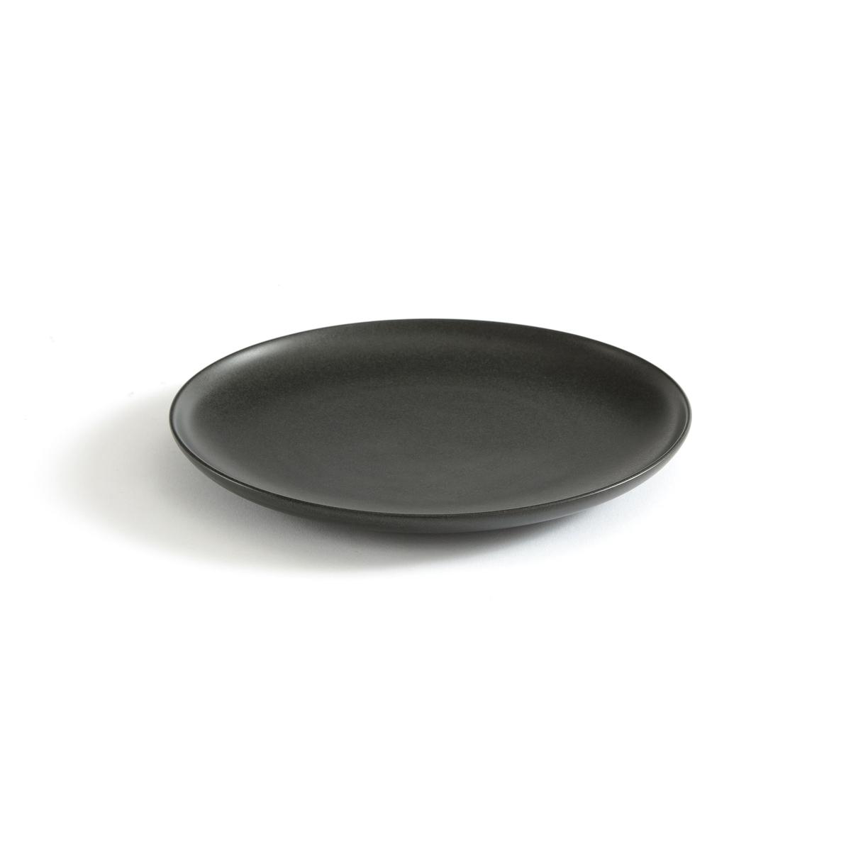 Фото - 2 десертные LaRedoute Тарелки из керамики Banjit единый размер черный 4 десертные laredoute тарелки из глазурованной керамики anika единый размер серый
