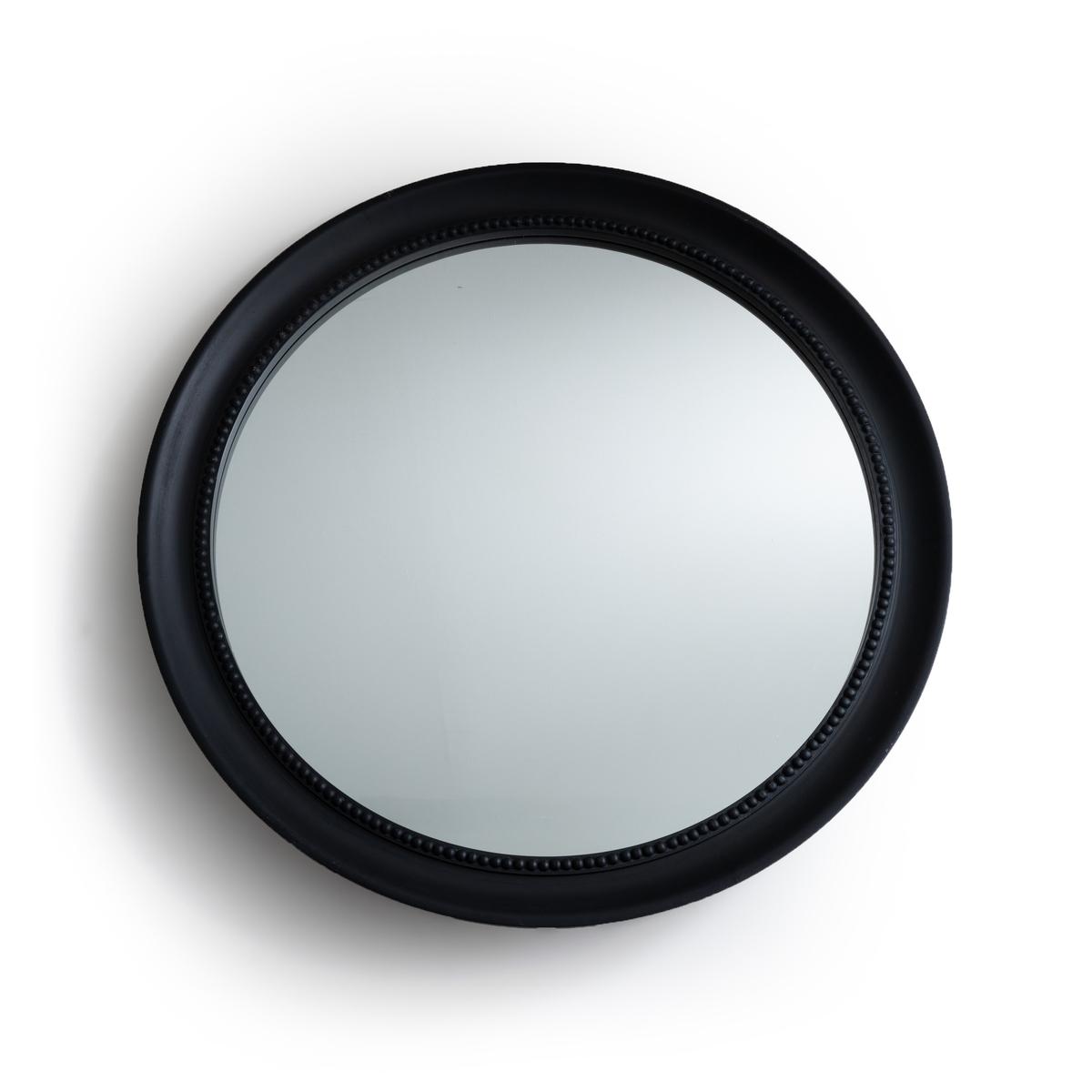 Зеркало La Redoute Круглое 100 см AFSAN единый размер черный зеркало la redoute afsan из массива мангового дерева единый размер черный