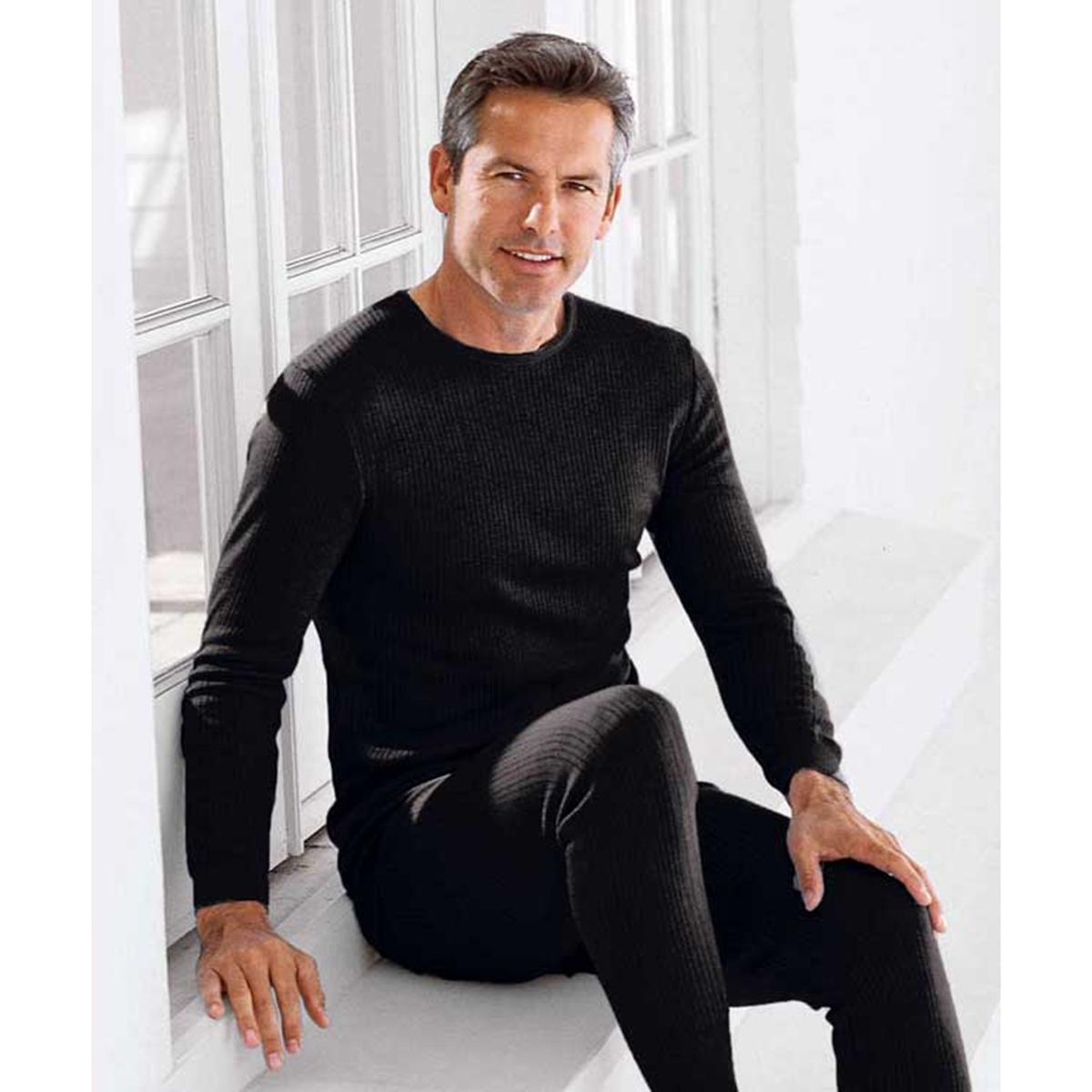 Футболка La Redoute С длинными рукавами Thermolactyl Richelieu S черный сорочка с длинными рукавами aygey