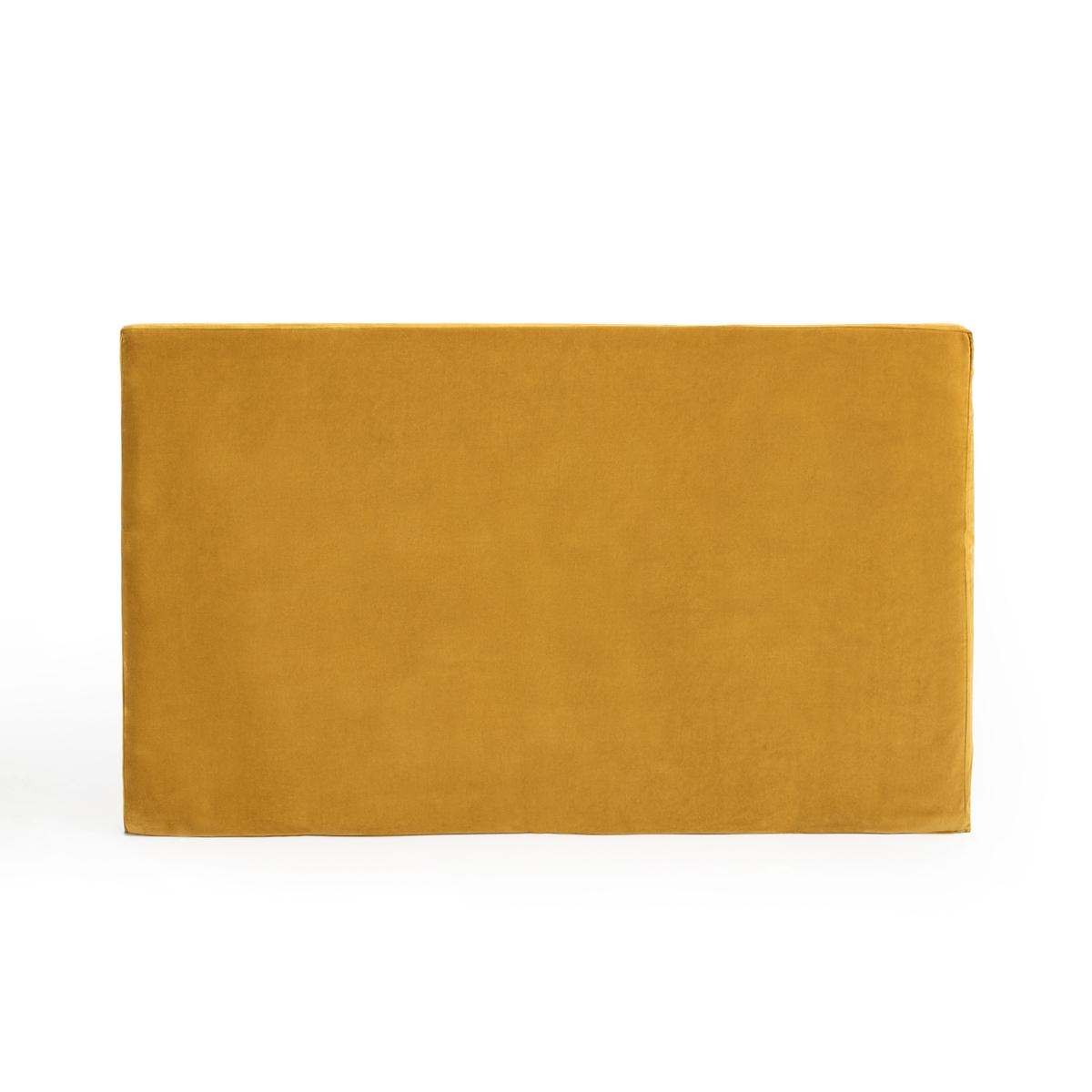 Чехол LaRedoute Для изголовья кровати из велюра Velvet 160 x 85 см желтый чехол laredoute для изголовья кровати stadia 100 лен высота 120 см 120 x 10 x 160 см серый
