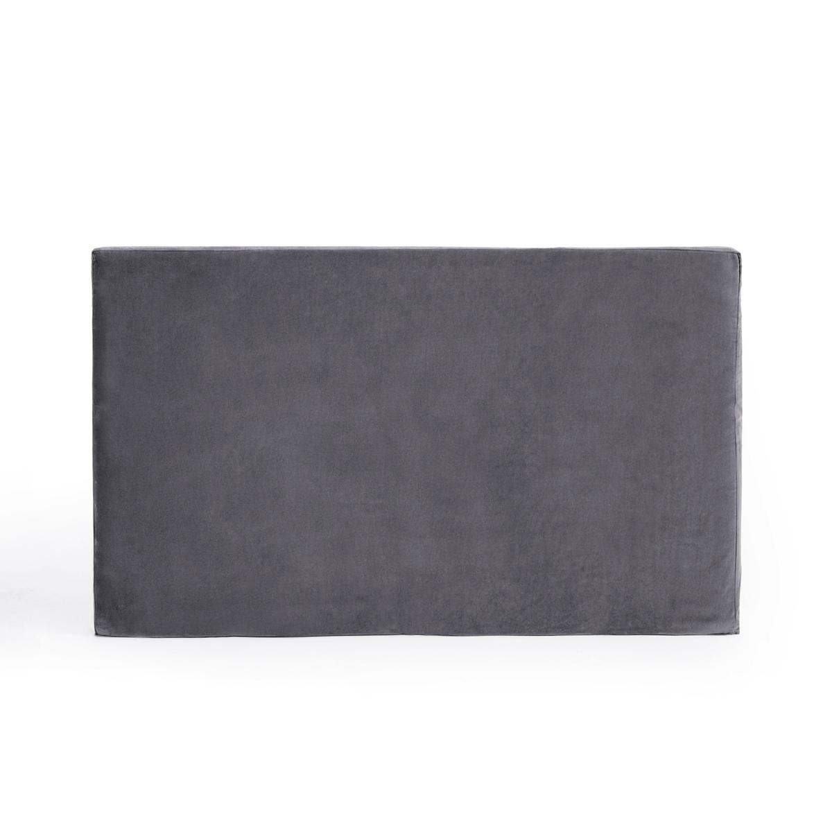 Чехол LaRedoute Для изголовья кровати из велюра Velvet 180 x 85 см серый