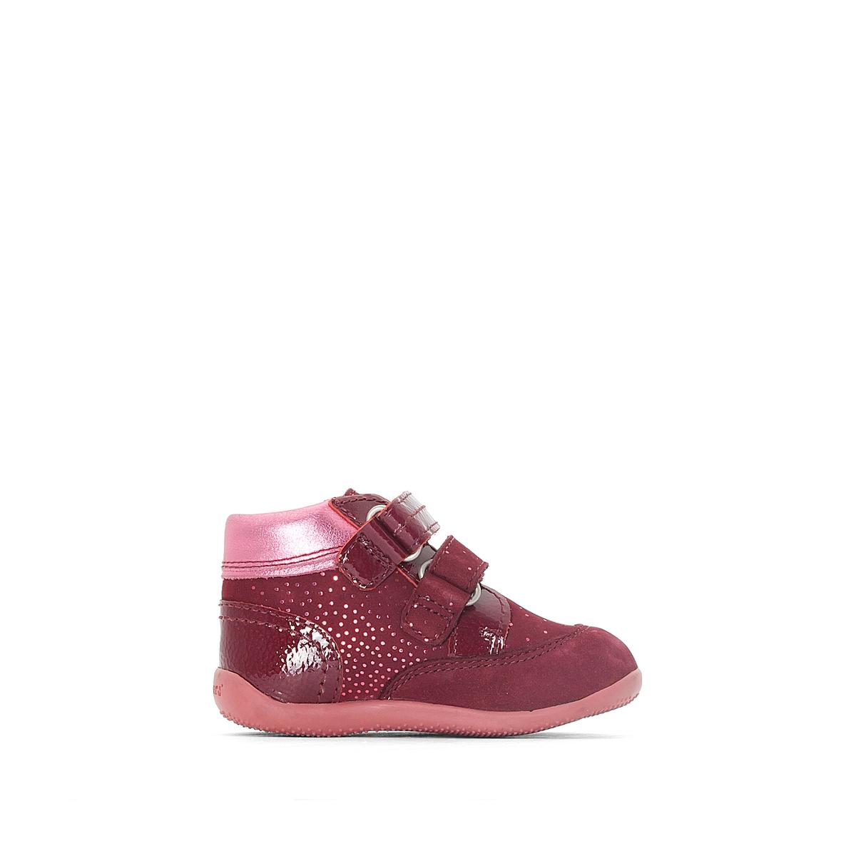 Ботинки кожаные с застежкой на планки-велкро BILIANA