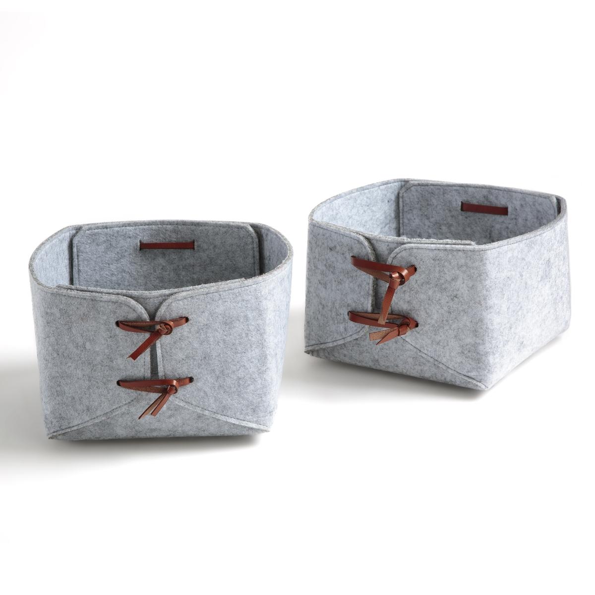 Комплект из коробок из La Redoute Фетрина Kyzac единый размер серый комплект из 3 горшков loupi la redoute la redoute единый размер серый