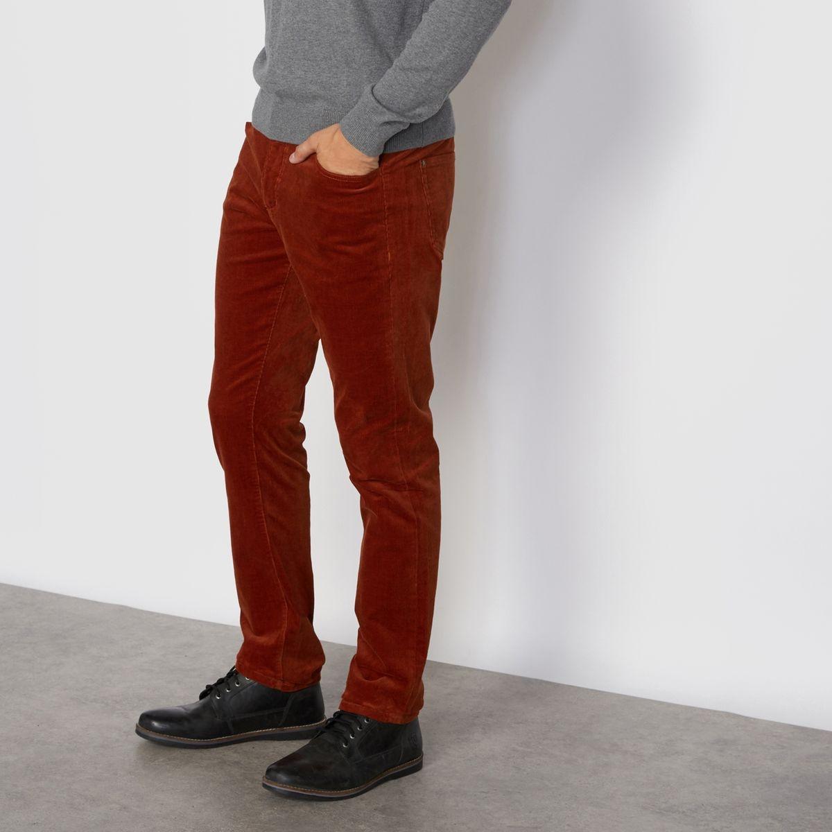 Pantalon 5 poches, en velours