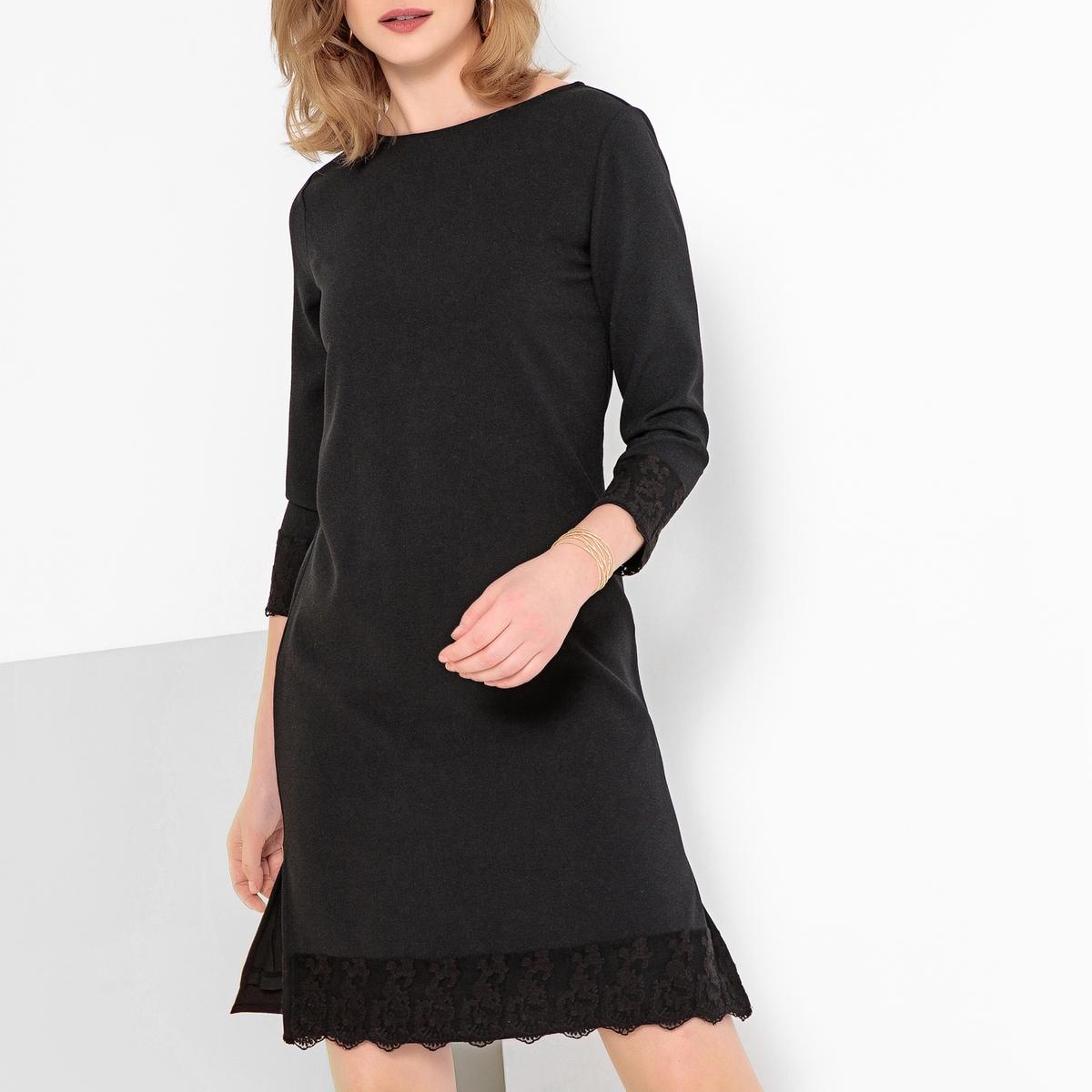 Imagen secundaria de producto de Vestido recto, semilargo, de encaje - Anne weyburn