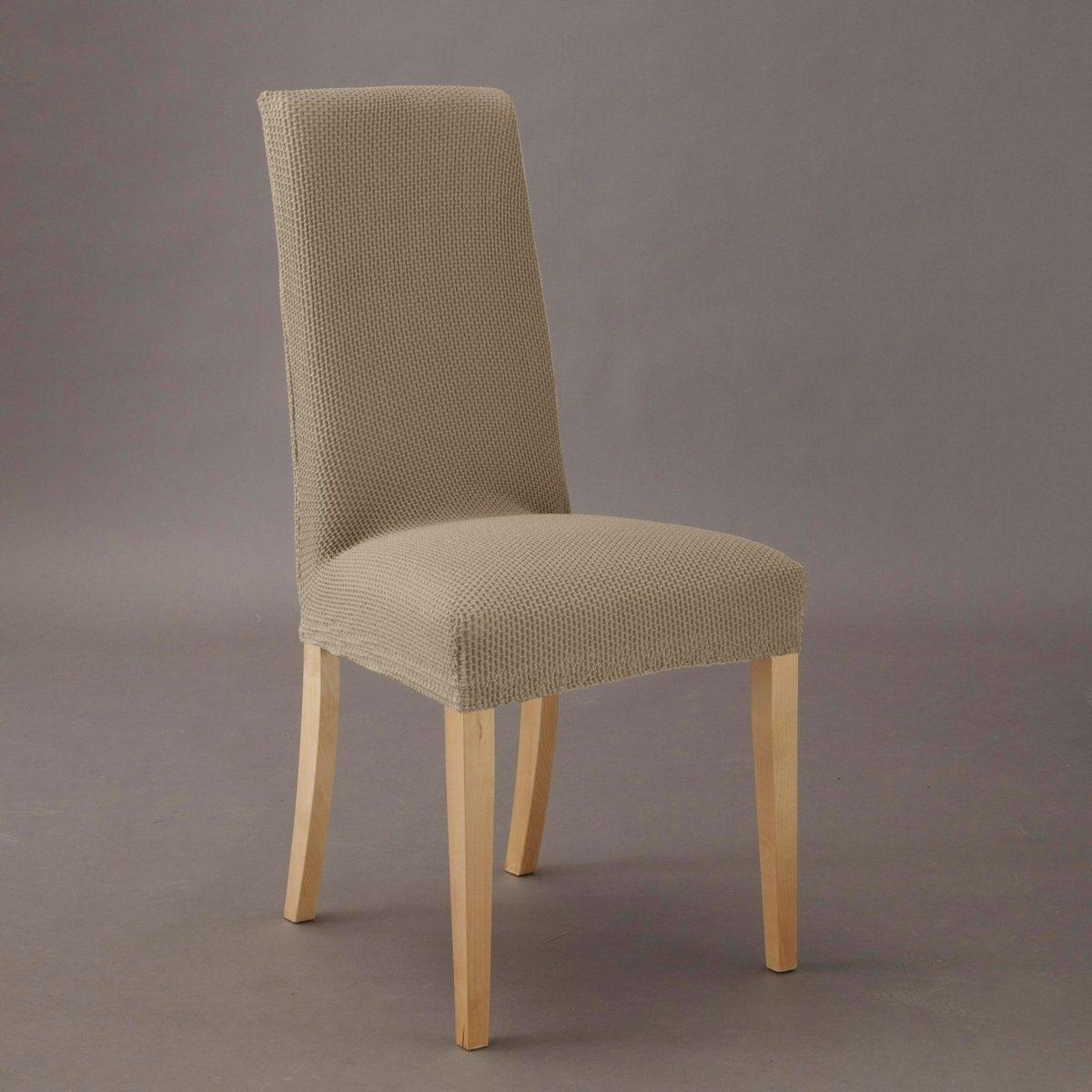 Чехол для стула АхмисОтличная идея для обновления интерьера! Сохраняет очертания стула и привносит новые мотивы в Ваш интерьер.Характеристики : -гофрированная эластичная ткань, 55% хлопка, 40% полиэстера, 5% эластана  -стирка при 30° - Эластичный низ, идеально обтягивает стул . - Эластичный низ, идеально обтягивает стул   !Размеры : Спинка:Высота  : 54 см максимально 68 см Ширина  : 34 см максимально 53 см Сиденье :Высота  : 10 см Ширина  : 29 см максимально 54 см  Глубина : 26 см максимально 43 см Чехол для дивана и чехол для кресла из коллекции Вы можете найти на laredoute .ru.<br><br>Цвет: серо-бежевый