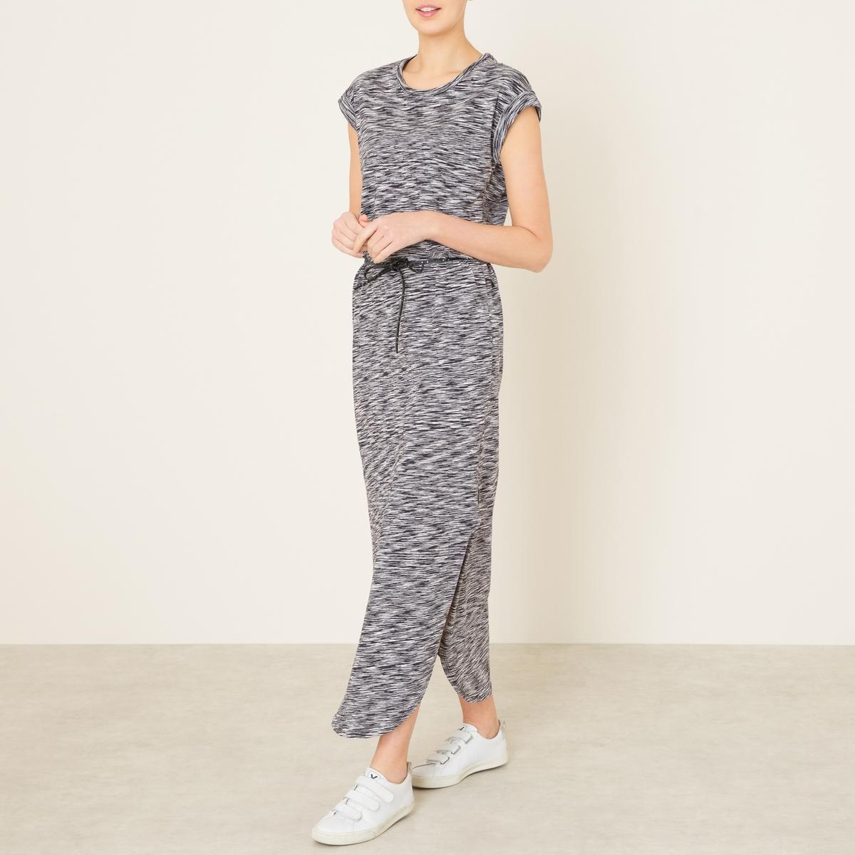 Платье длинное с поясомСостав и описание Материал : 100% хлопокДлина : ок. 140 см. для размера 36Марка : MAISON SCOTCH<br><br>Цвет: черный,экрю/черный<br>Размер: 4(XL)