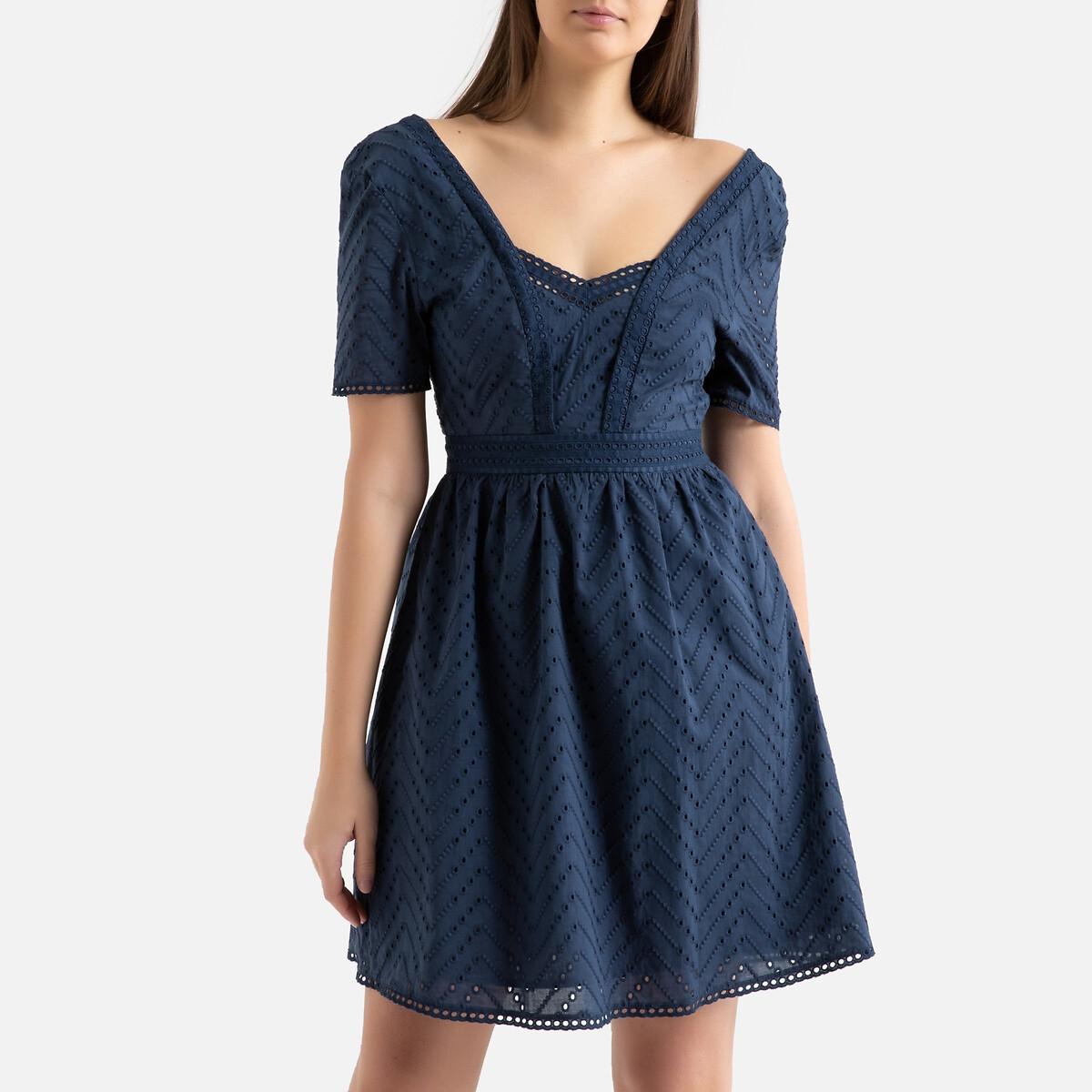 Kleid COREY mit Lochstickerei