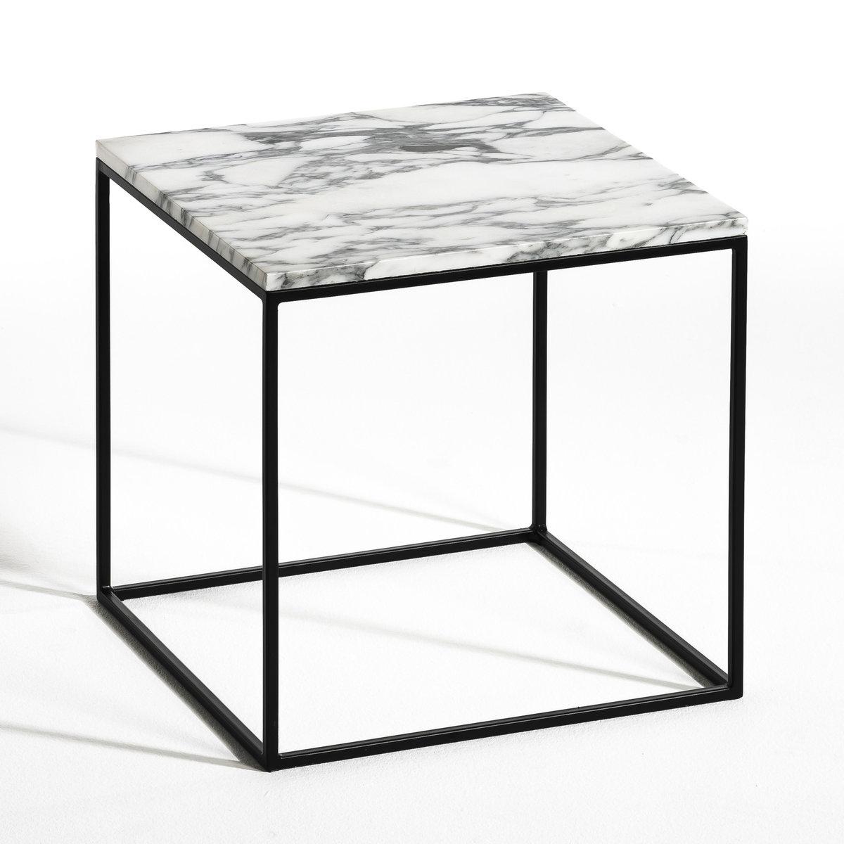 Столик из металла черного цвета и мрамора, MahautСтолик Mahaut. Элегантное и простое сочетание столешницы из мрамора,  благородного, прочного и теплого камня, с очень изящным металлическим каркасом  . Характеристики : - Столешница из мрамора - Каркас из металла черного цвета  Размеры : - Ш.40 x В.40 x Г.40 см<br><br>Цвет: черный<br>Размер: единый размер