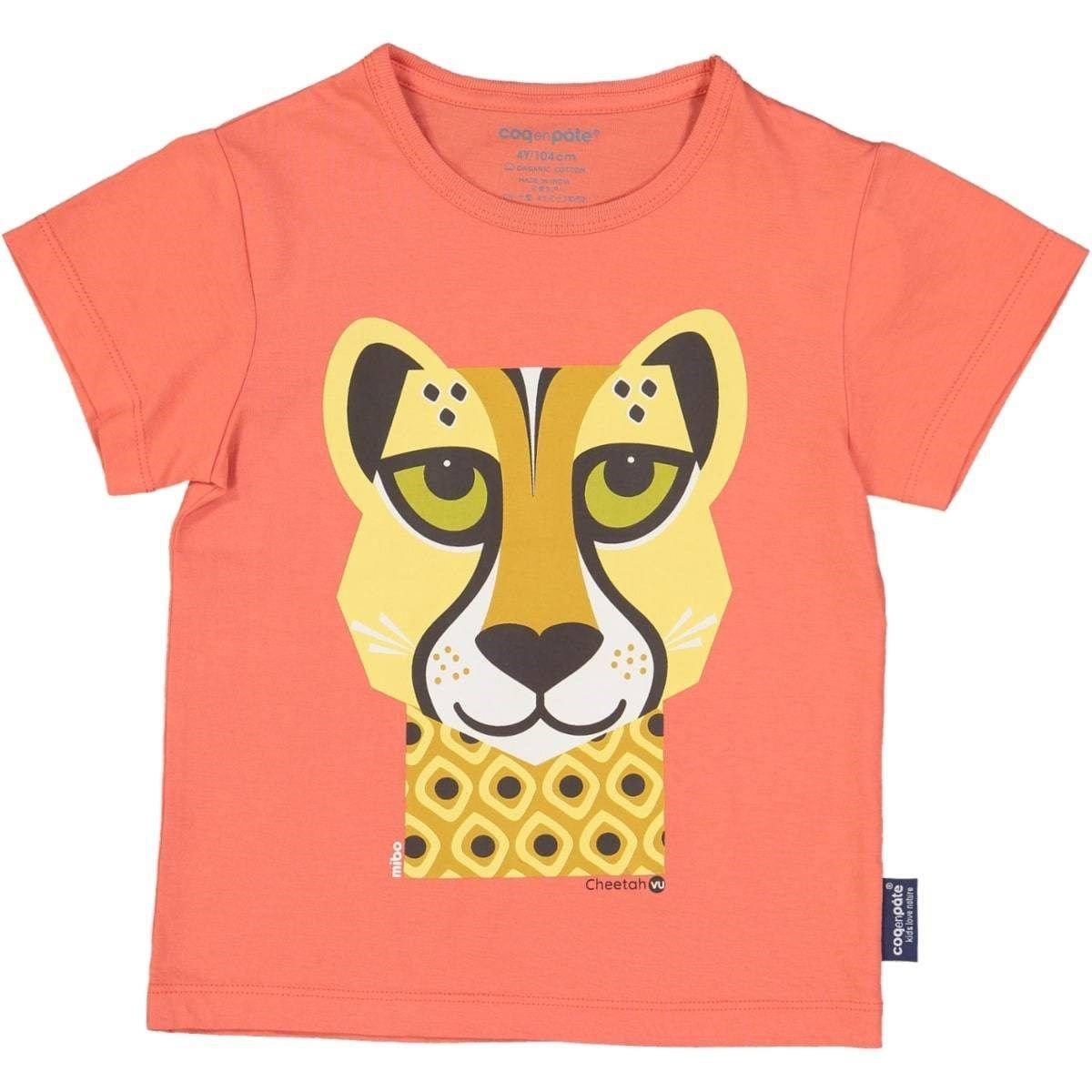 T-shirt en coton bio Guépard