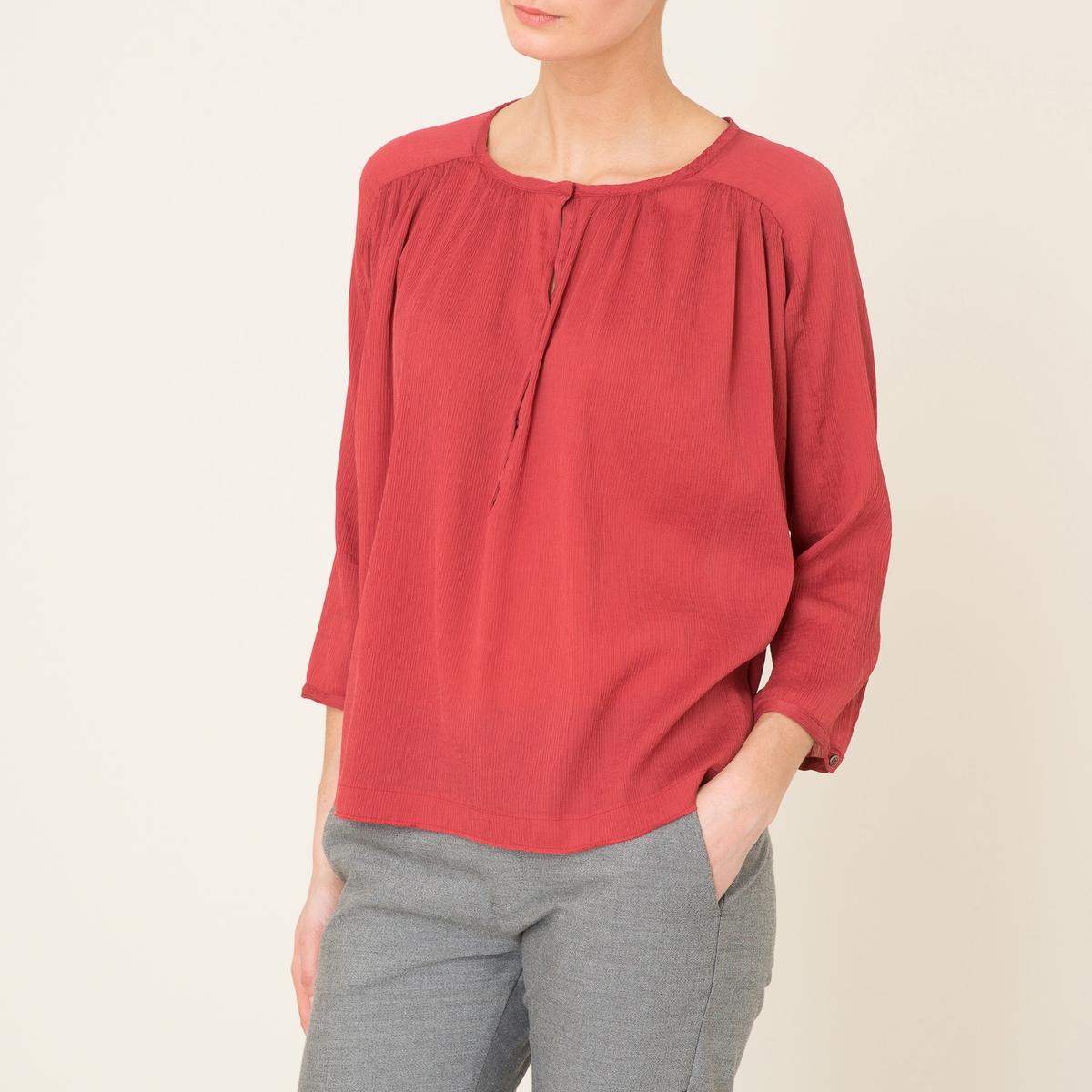 Блузка с длинными рукавамиСостав и описание   Материал : 75% хлопка, 25% шелка   Марка : POMANDERE<br><br>Цвет: красный