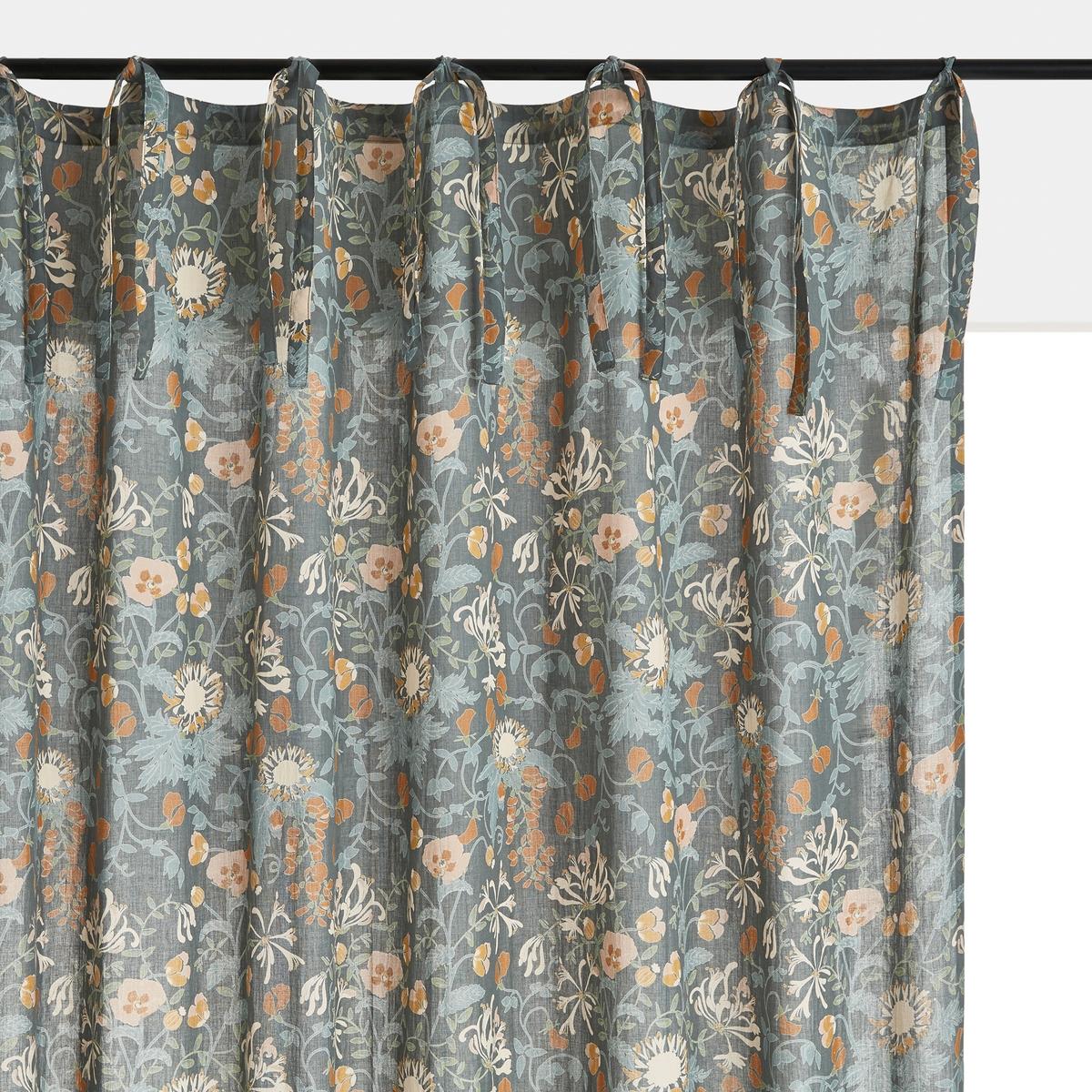 одеяло стеганое из хлопковой вуали с рисунком колорблок Штора La Redoute Из хлопковой вуали с завязками Milton 180 x 135 см другие